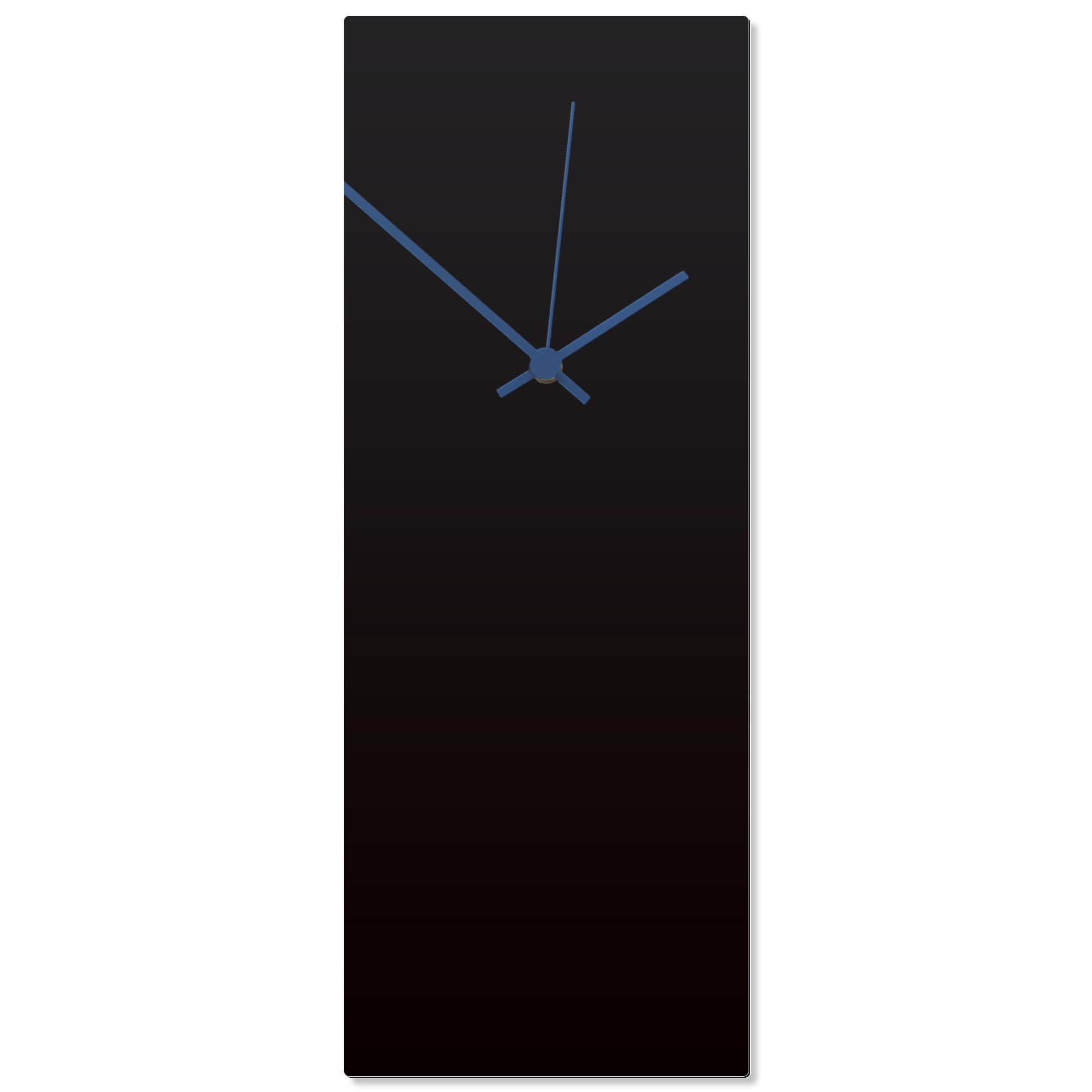 Blackout Blue Clock Large 8.25x22in. Aluminum Polymetal