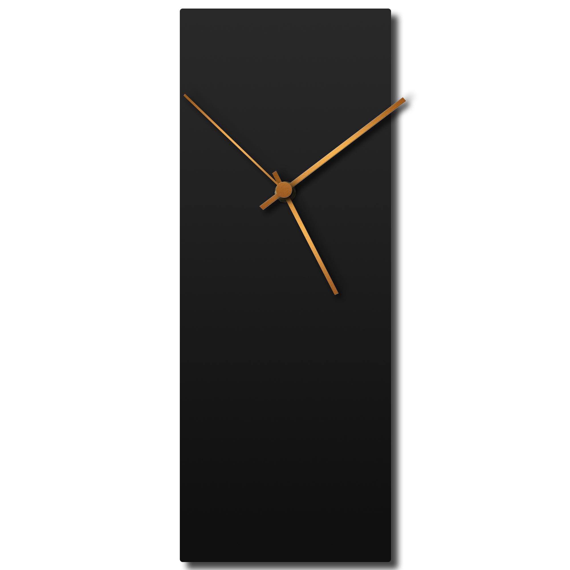 Adam Schwoeppe 'Blackout Bronze Clock' Midcentury Modern Style Wall Clock