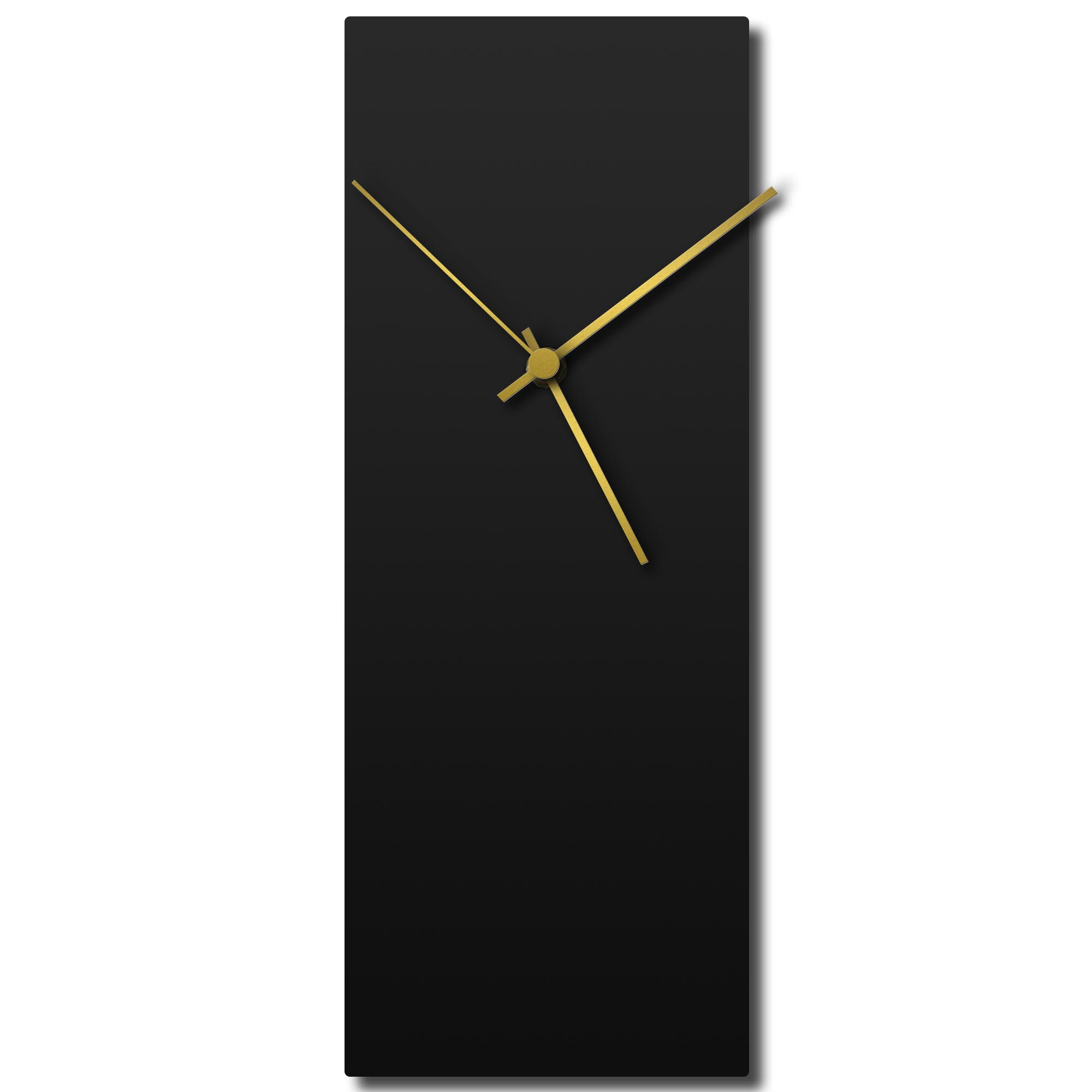Adam Schwoeppe 'Blackout Gold Clock' Midcentury Modern Style Wall Clock
