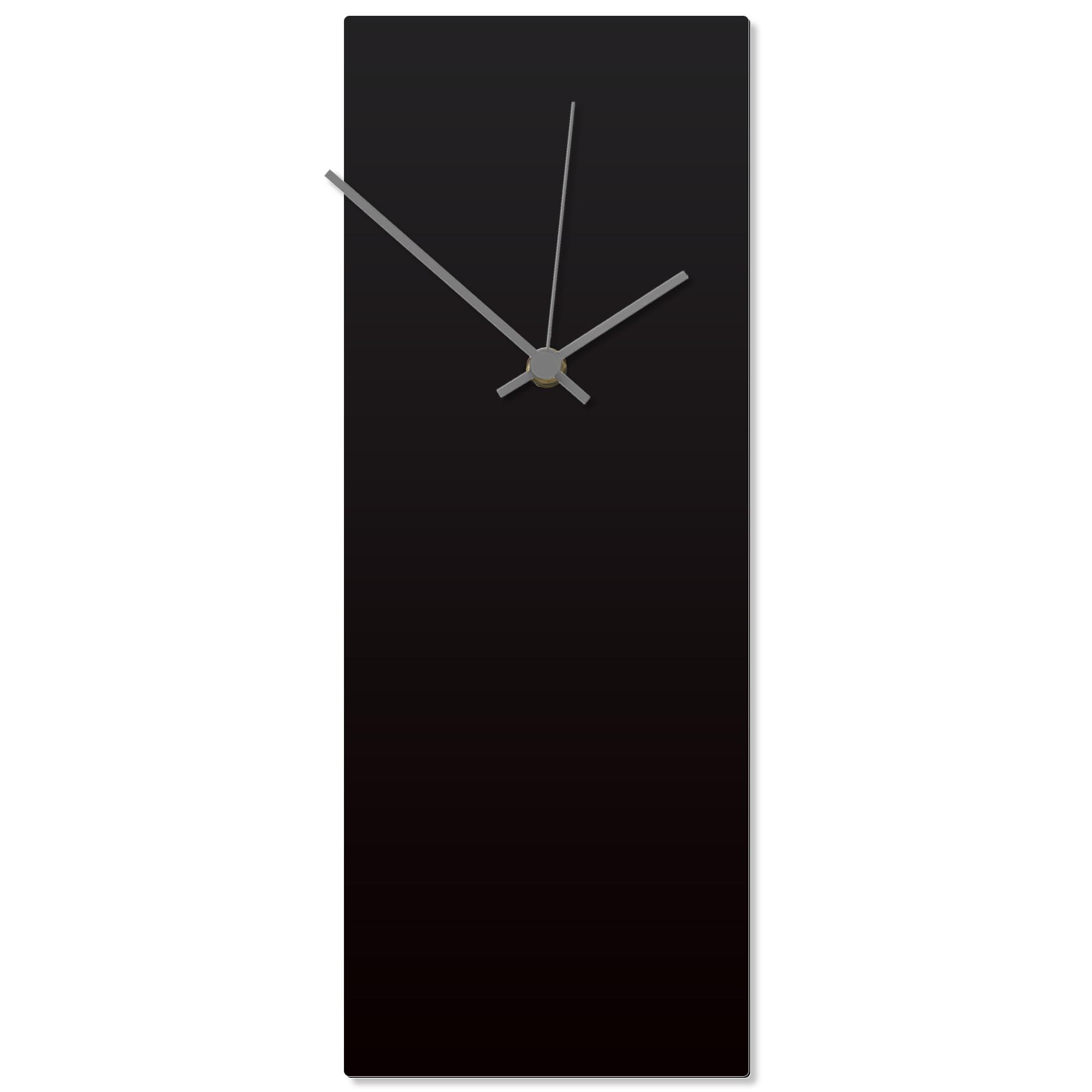 Blackout Grey Clock 6x16in. Aluminum Polymetal