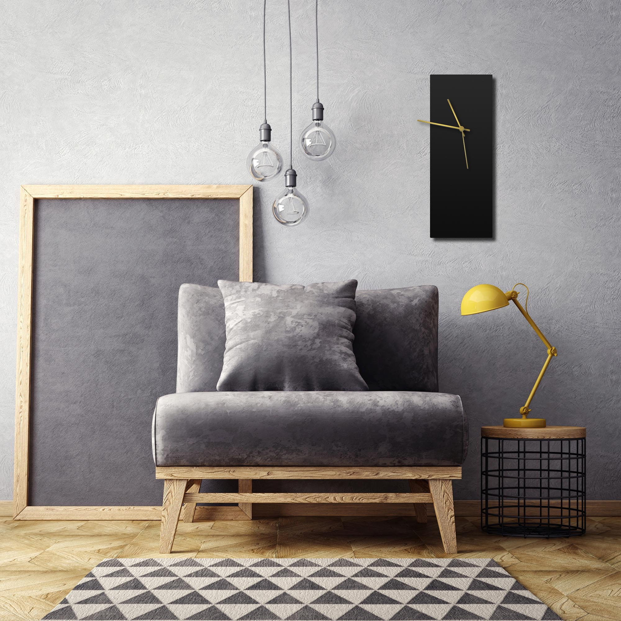 Blackout Gold Clock Large - Lifestyle View