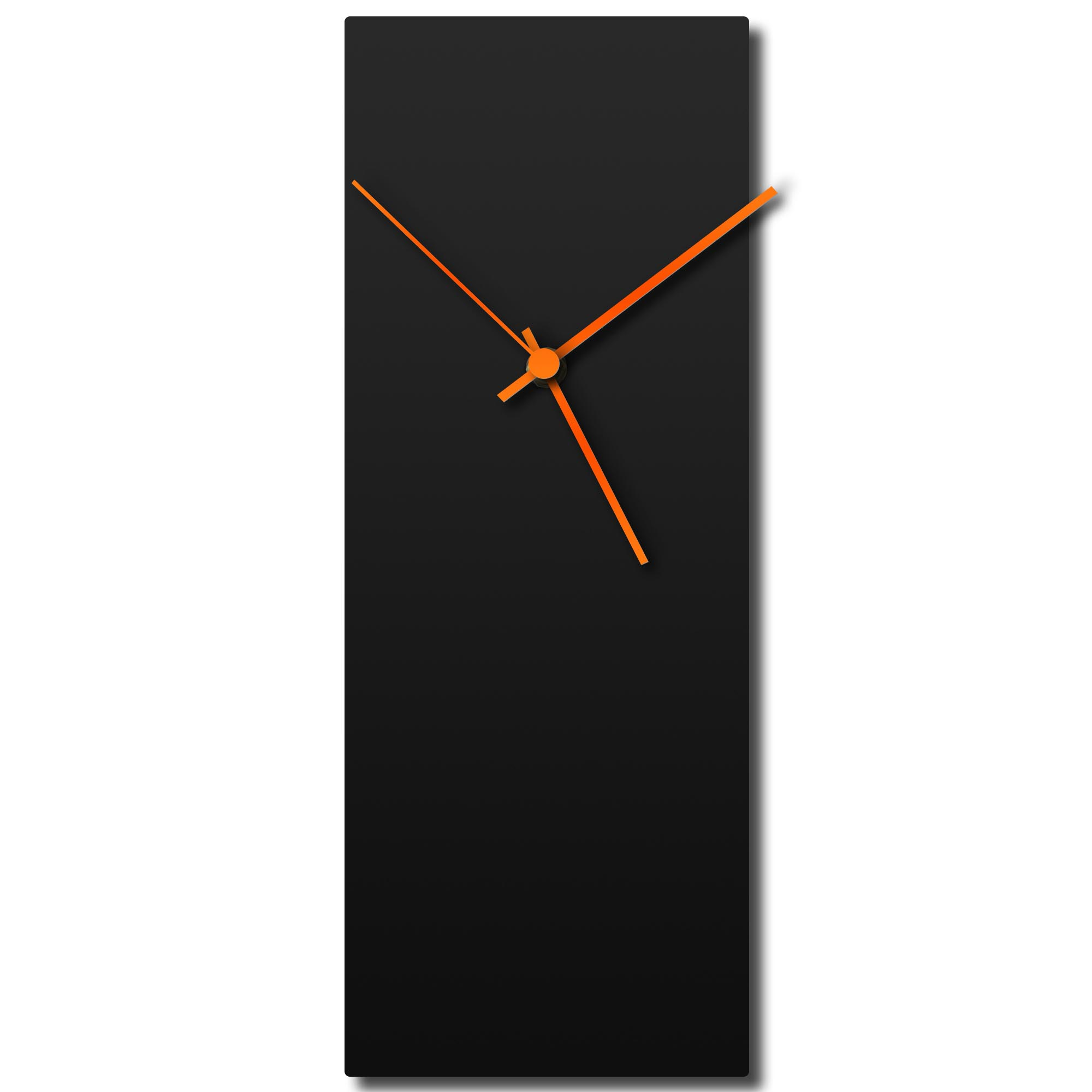 Blackout Orange Clock 6x16in. Aluminum Polymetal