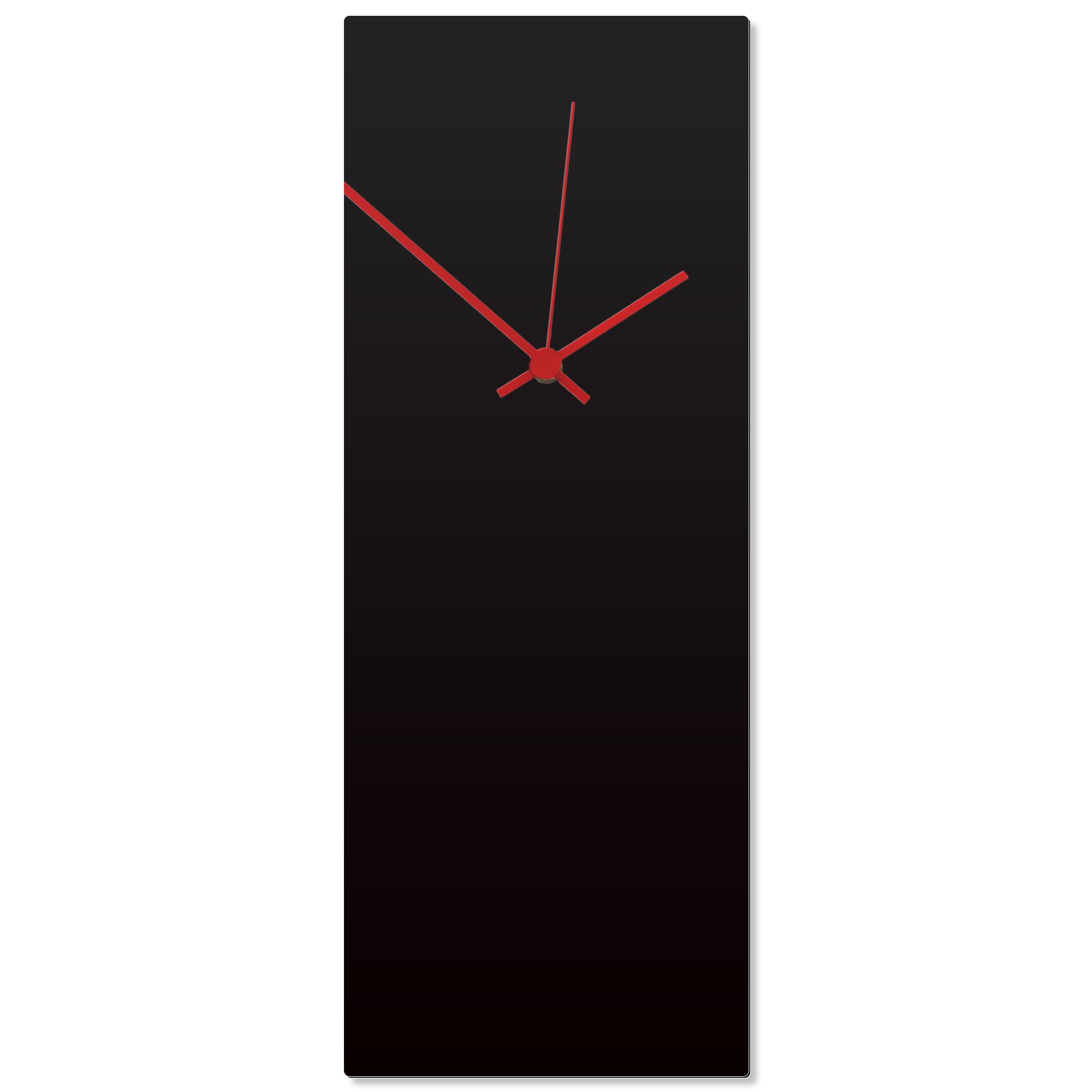 Blackout Red Clock Large 8.25x22in. Aluminum Polymetal