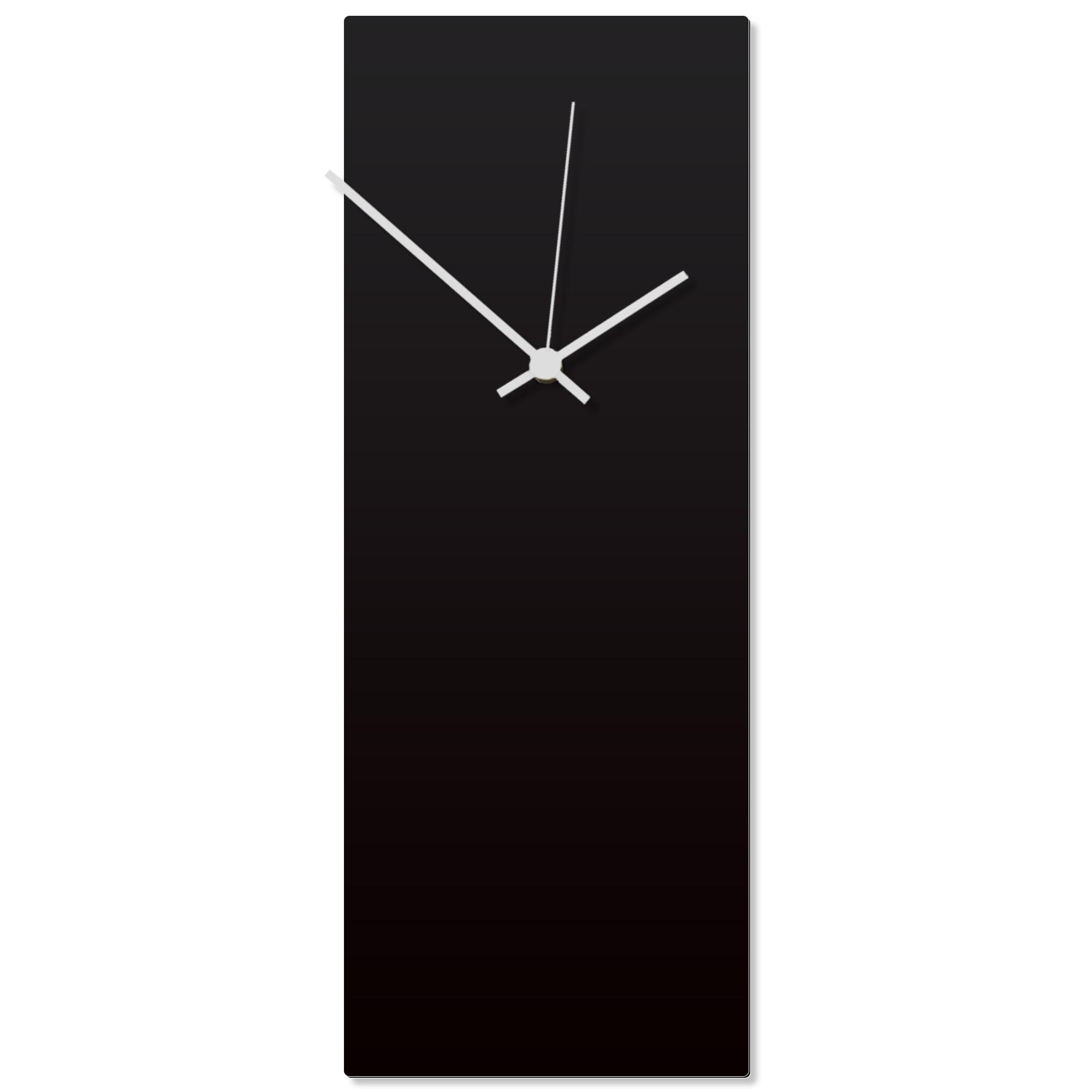 Blackout White Clock Large 8.25x22in. Aluminum Polymetal