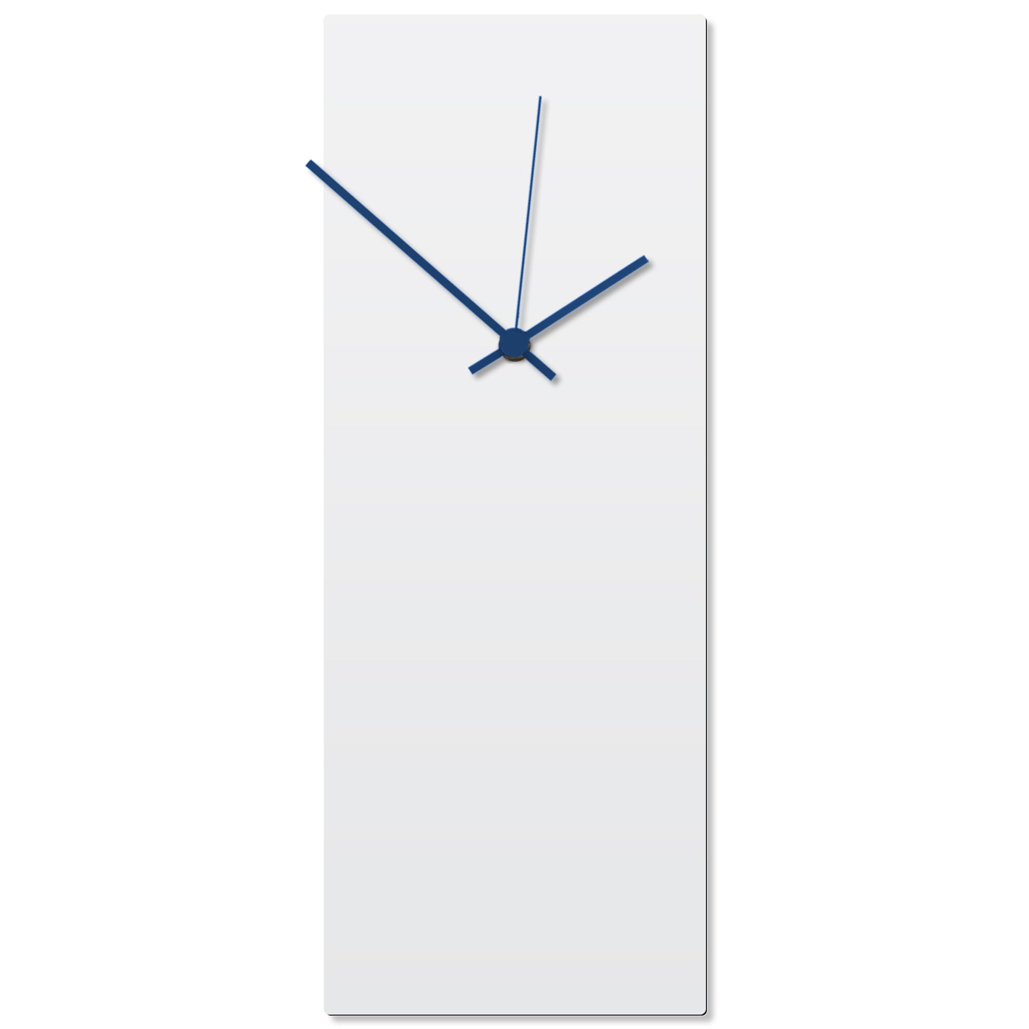 Whiteout Blue Clock Large 8.25x22in. Aluminum Polymetal