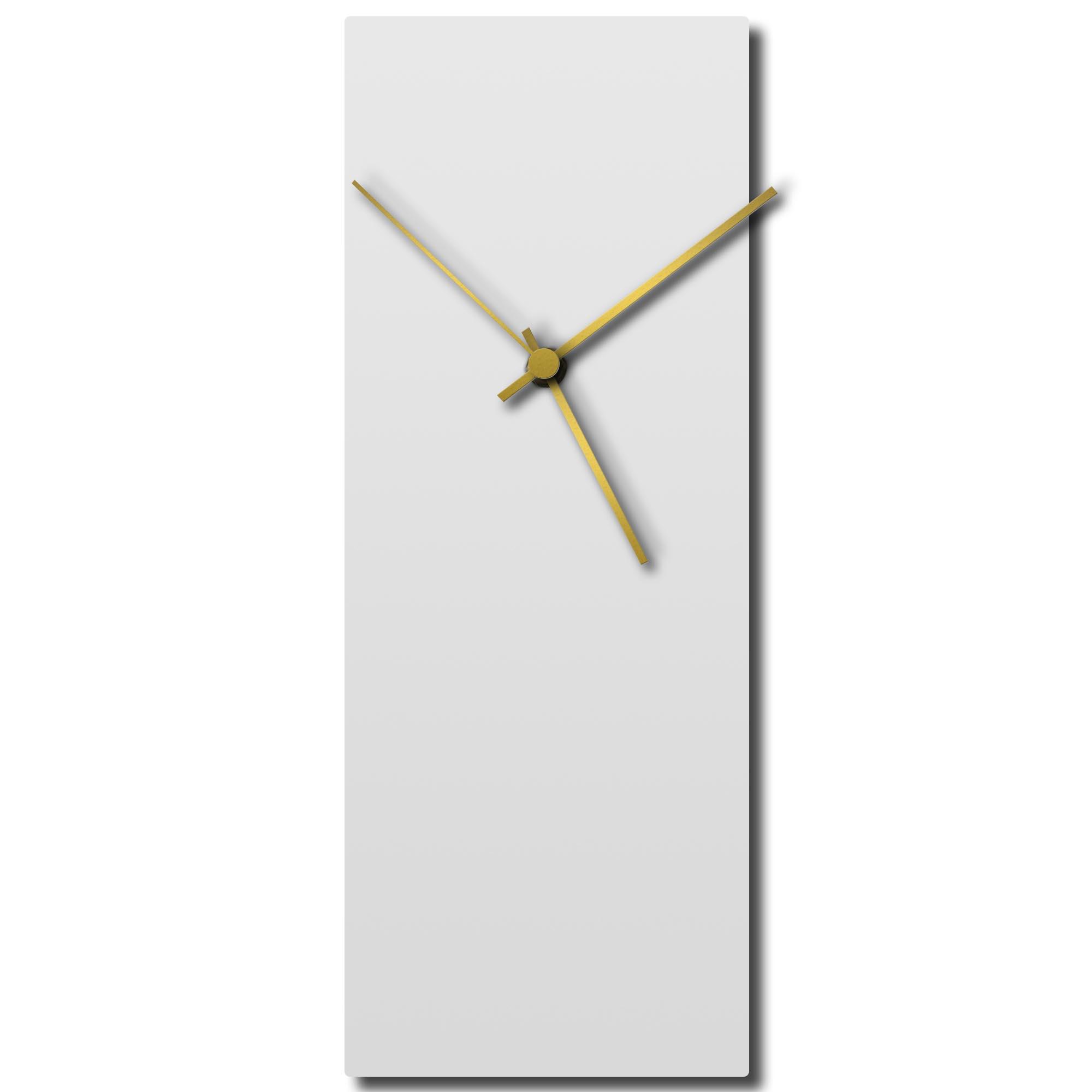 Adam Schwoeppe 'Whiteout Gold Clock' Midcentury Modern Style Wall Clock