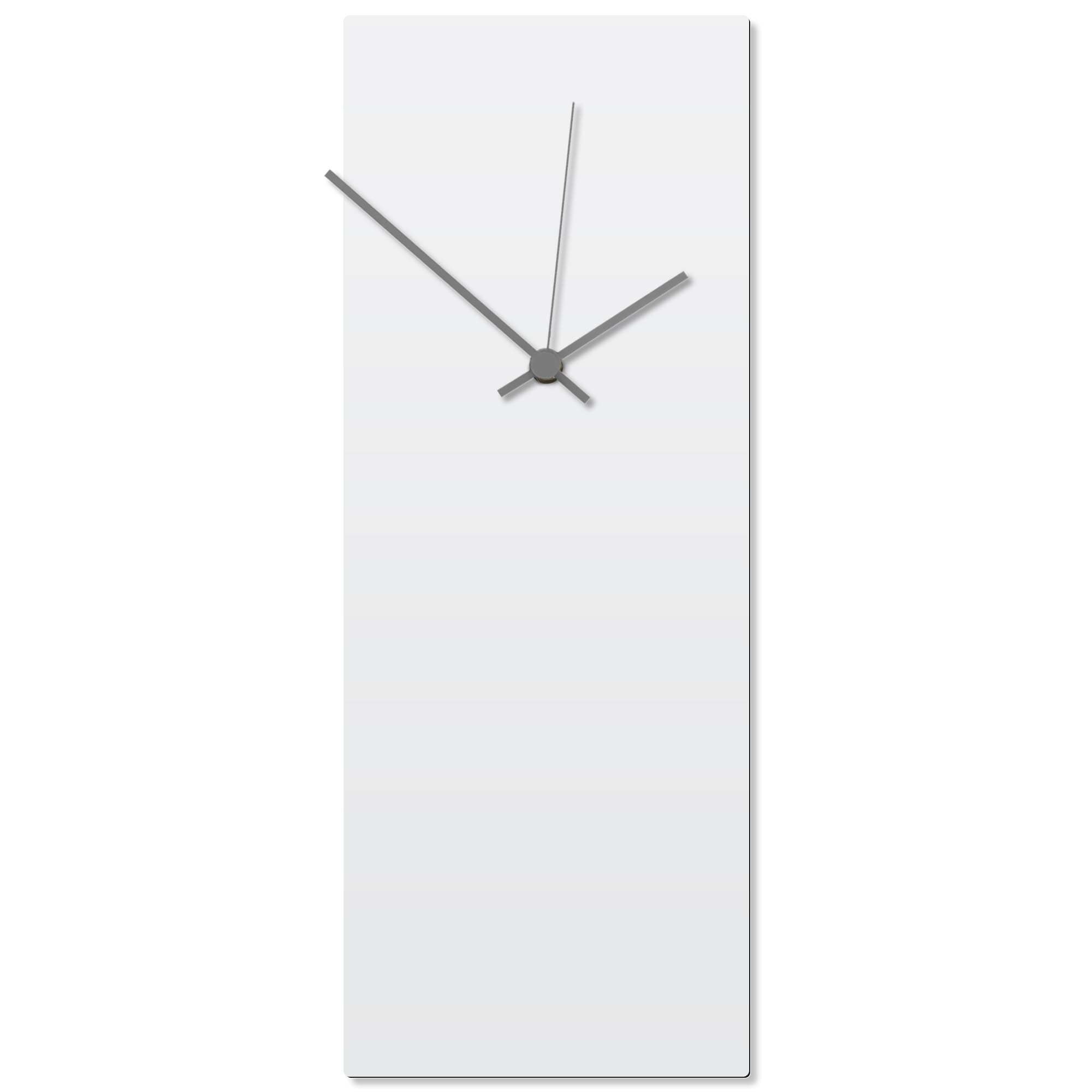 Whiteout Grey Clock Large 8.25x22in. Aluminum Polymetal