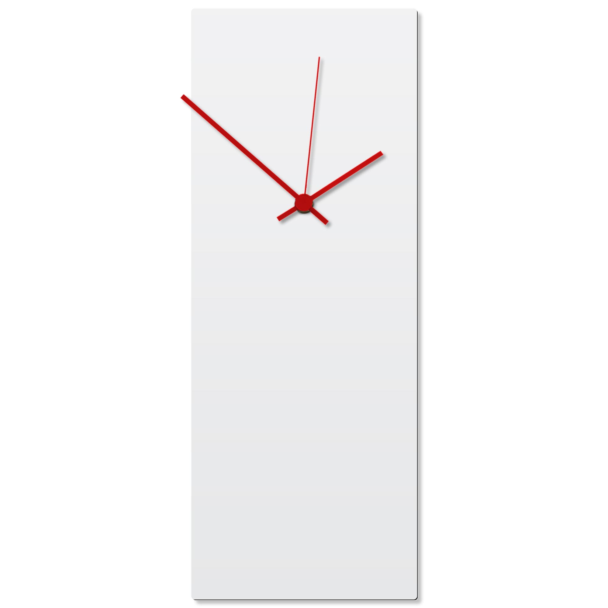 Whiteout Red Clock Large 8.25x22in. Aluminum Polymetal