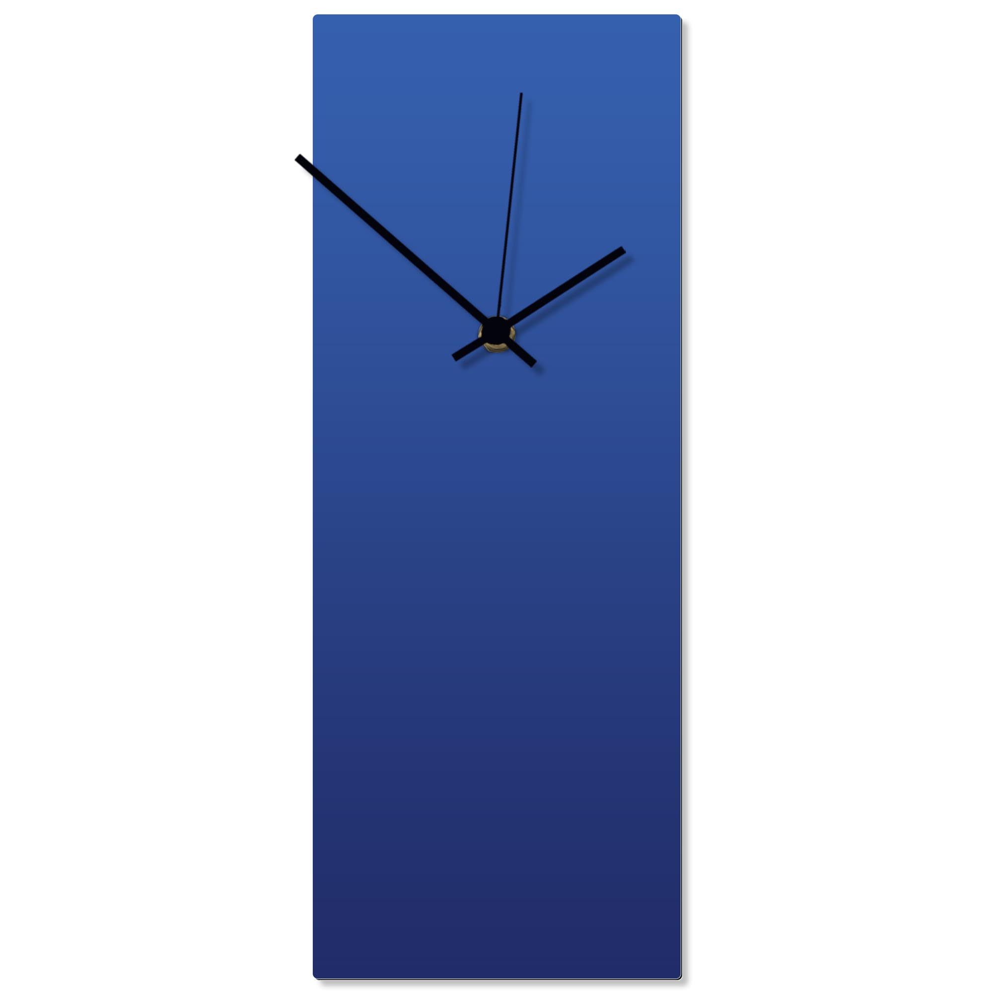 Blueout Black Clock 6x16in. Aluminum Polymetal
