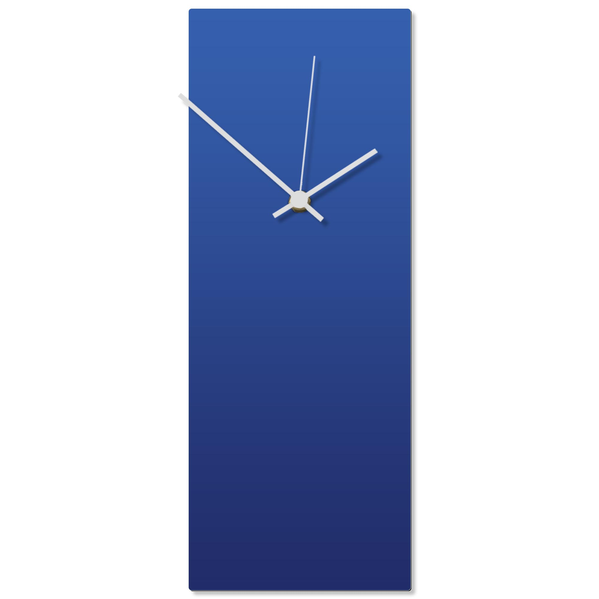 Blueout White Clock 6x16in. Aluminum Polymetal