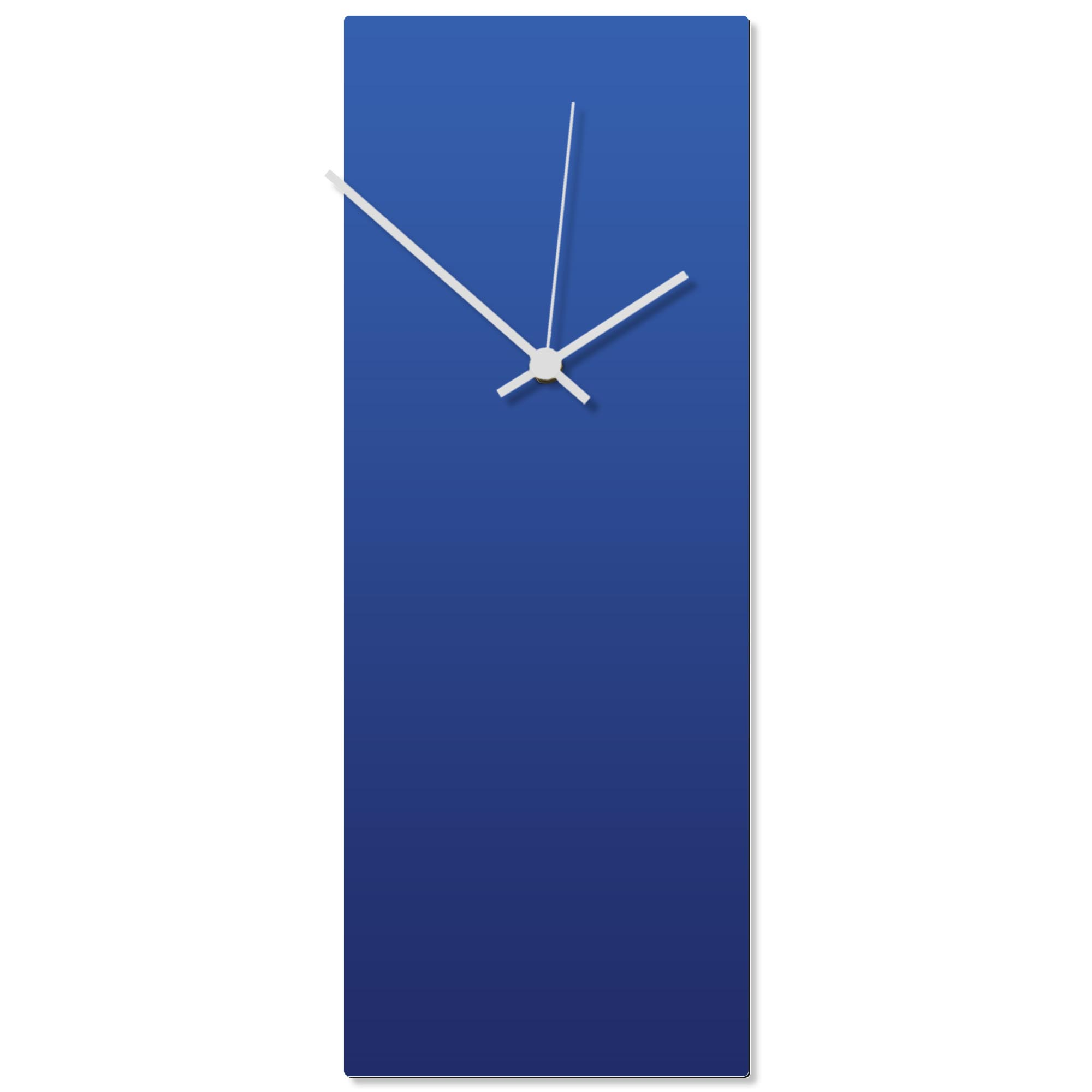 Blueout White Clock Large 8.25x22in. Aluminum Polymetal