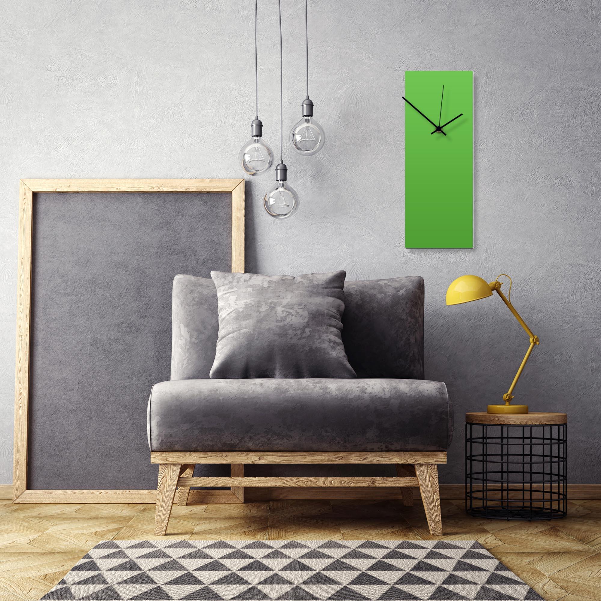 Greenout Black Clock Large by Adam Schwoeppe Contemporary Clock on Aluminum Polymetal - Alternate View 1