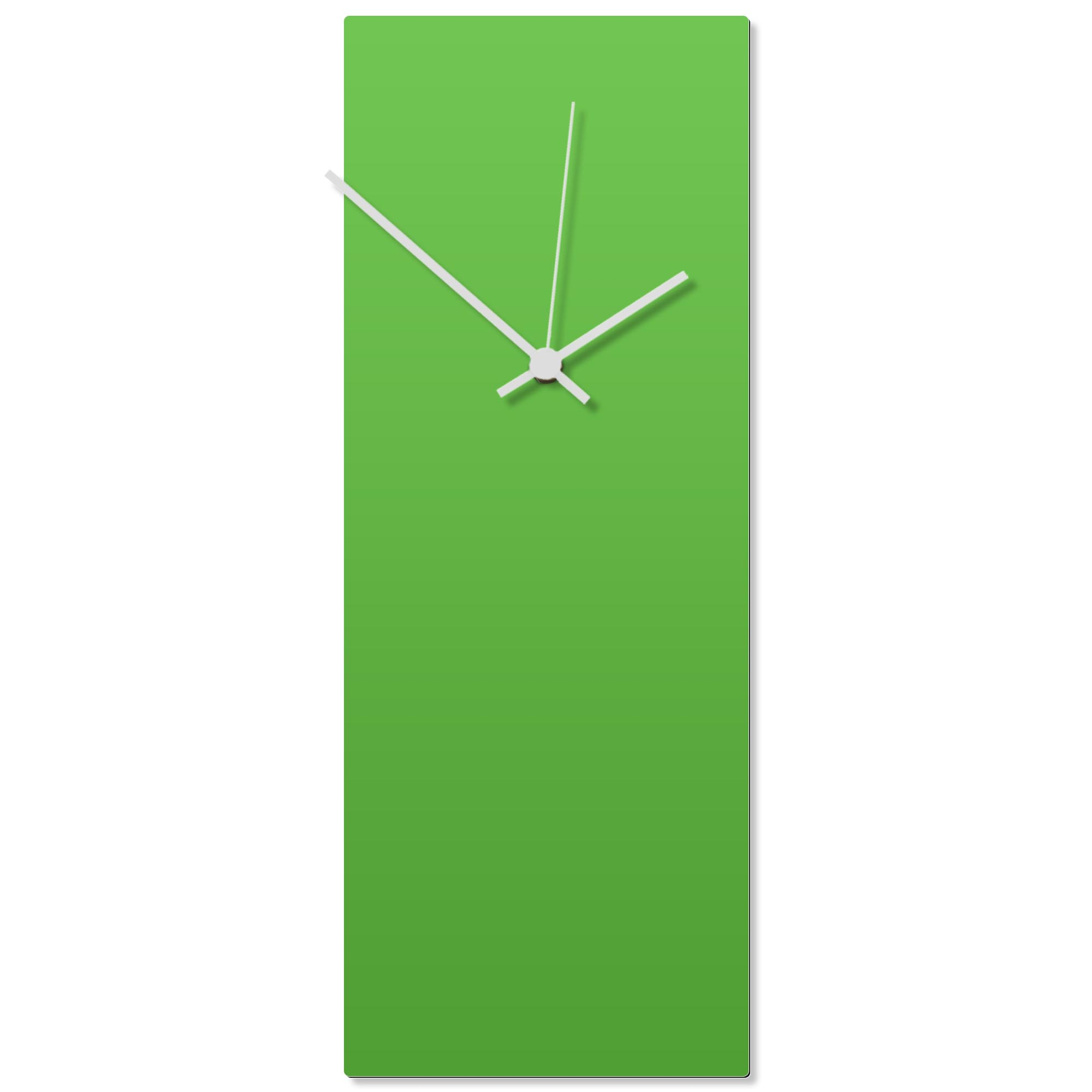 Greenout White Clock Large 8.25x22in. Aluminum Polymetal