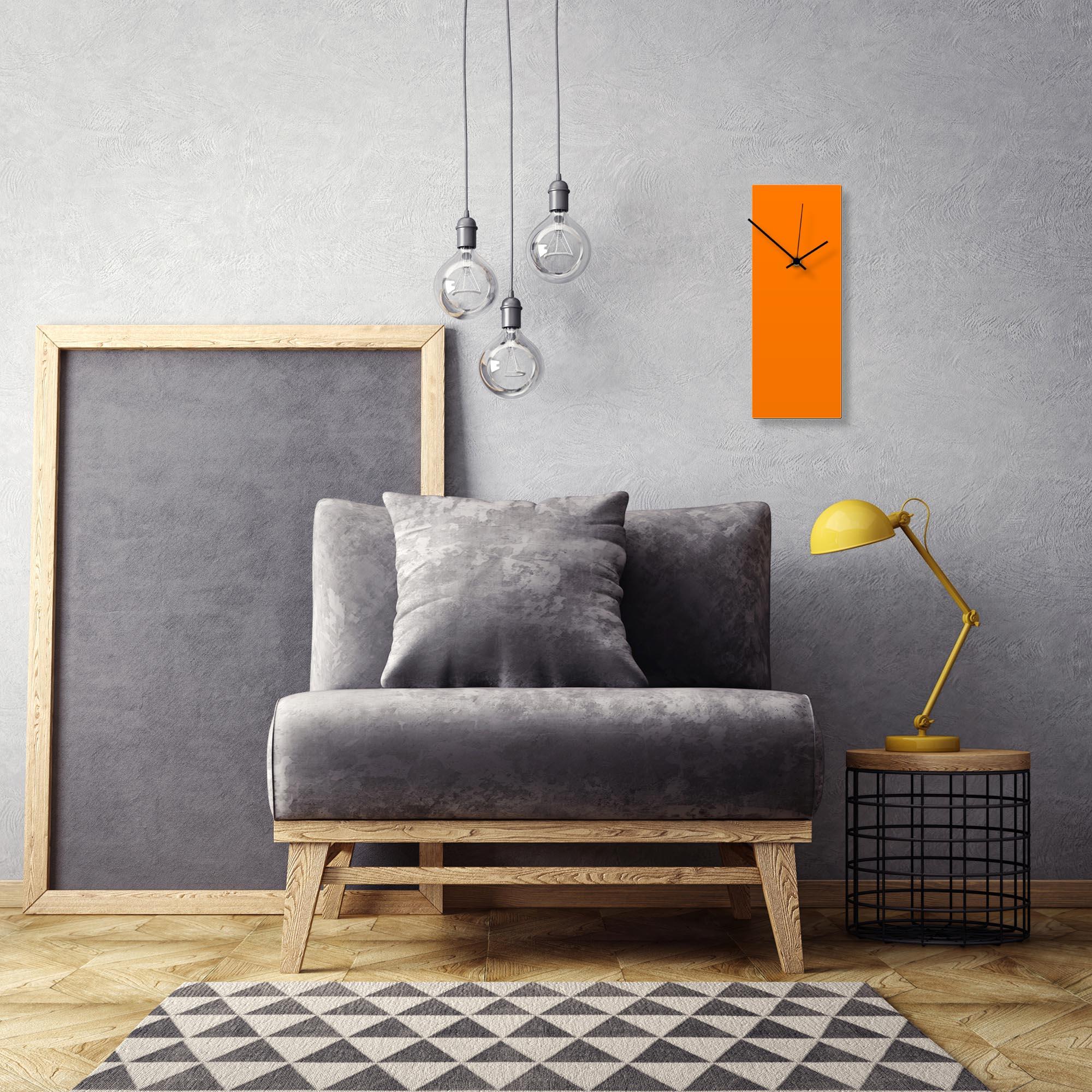 Orangeout Black Clock by Adam Schwoeppe Contemporary Clock on Aluminum Polymetal - Alternate View 1