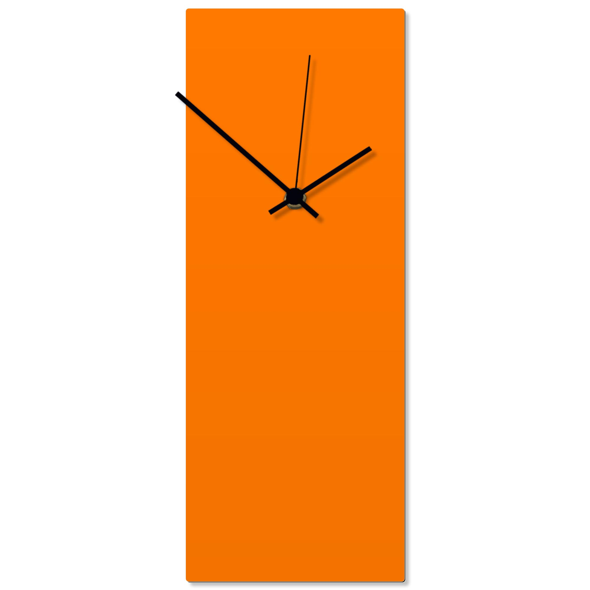 Orangeout Black Clock 6x16in. Aluminum Polymetal