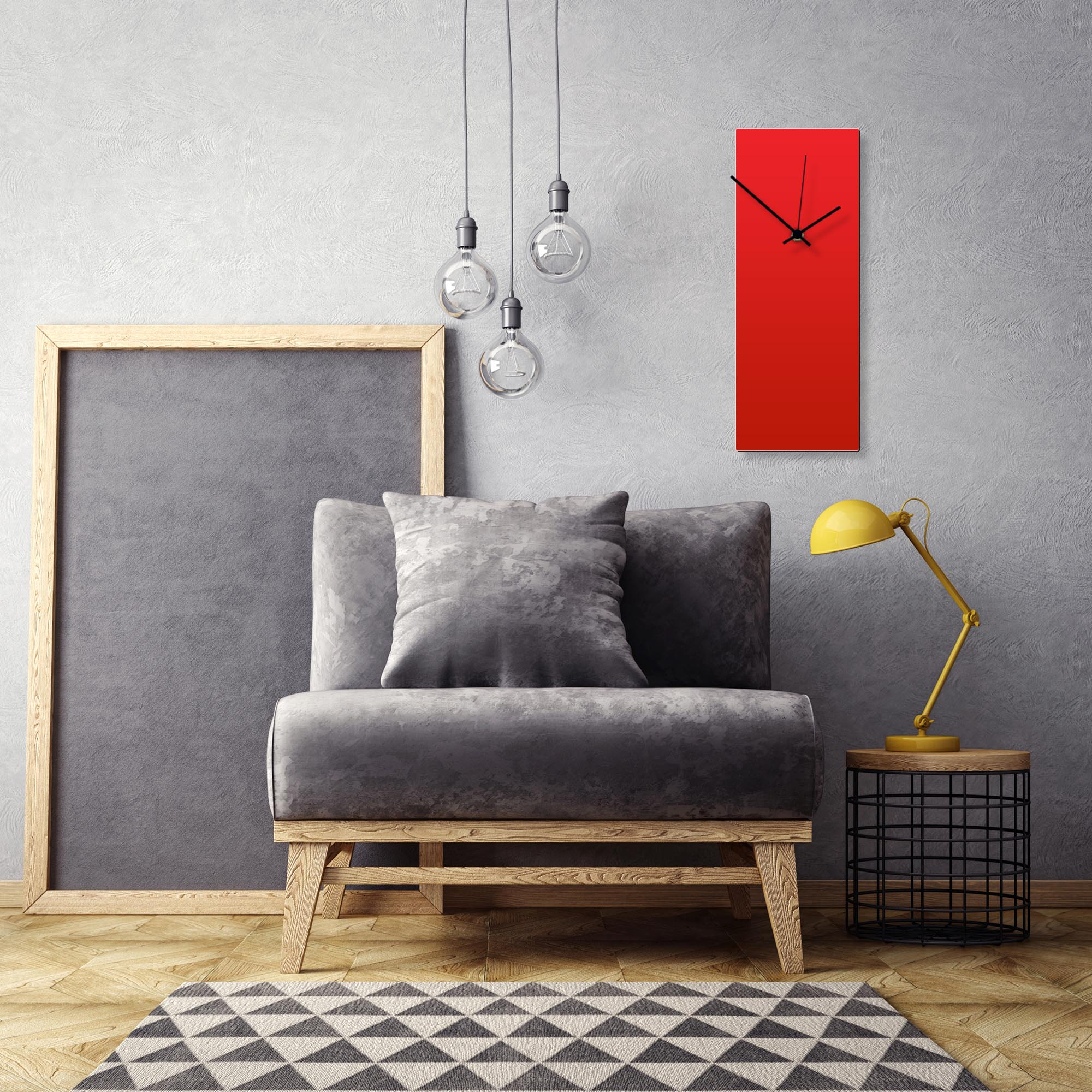 Redout Black Clock Large by Adam Schwoeppe Contemporary Clock on Aluminum Polymetal - Alternate View 1