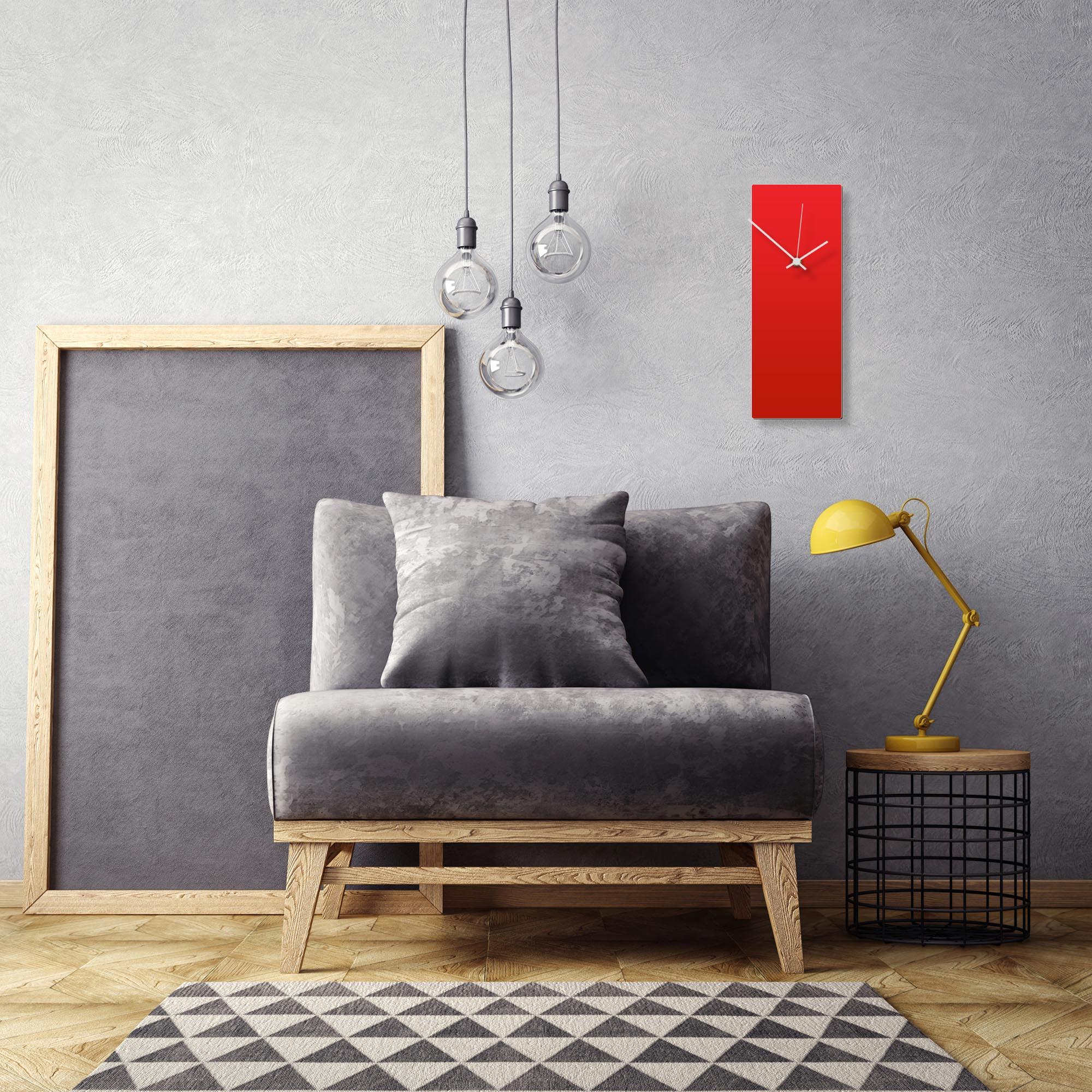 Redout White Clock by Adam Schwoeppe Contemporary Clock on Aluminum Polymetal - Alternate View 1