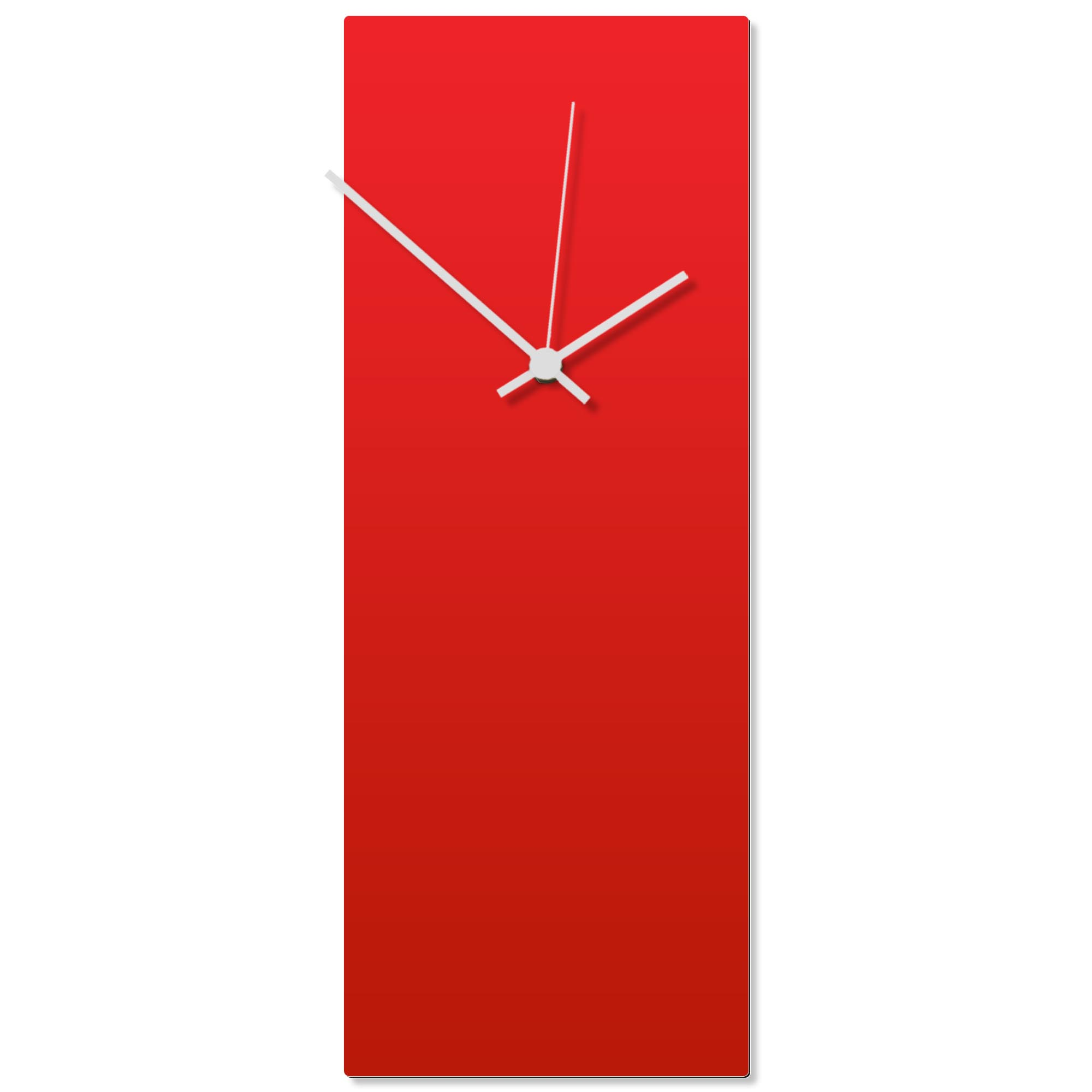 Redout White Clock Large 8.25x22in. Aluminum Polymetal