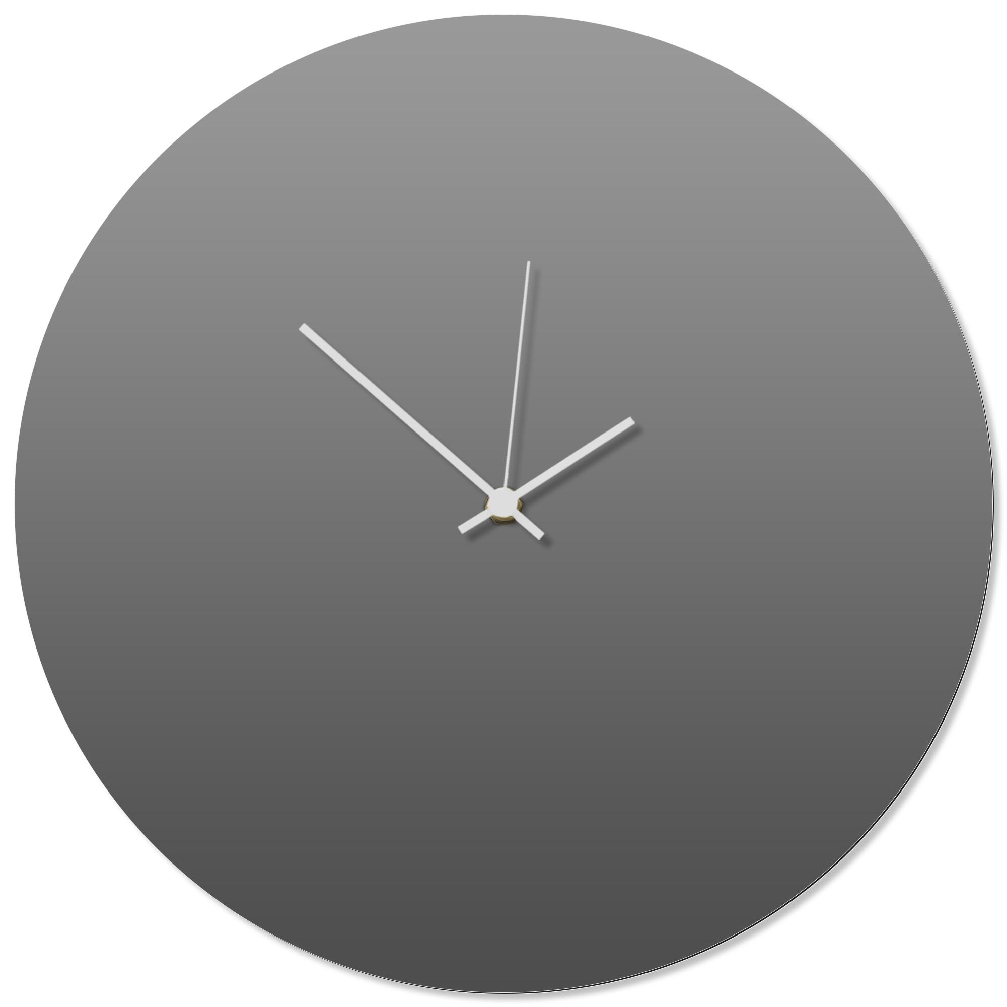 Grayout White Circle Clock 16x16in. Aluminum Polymetal