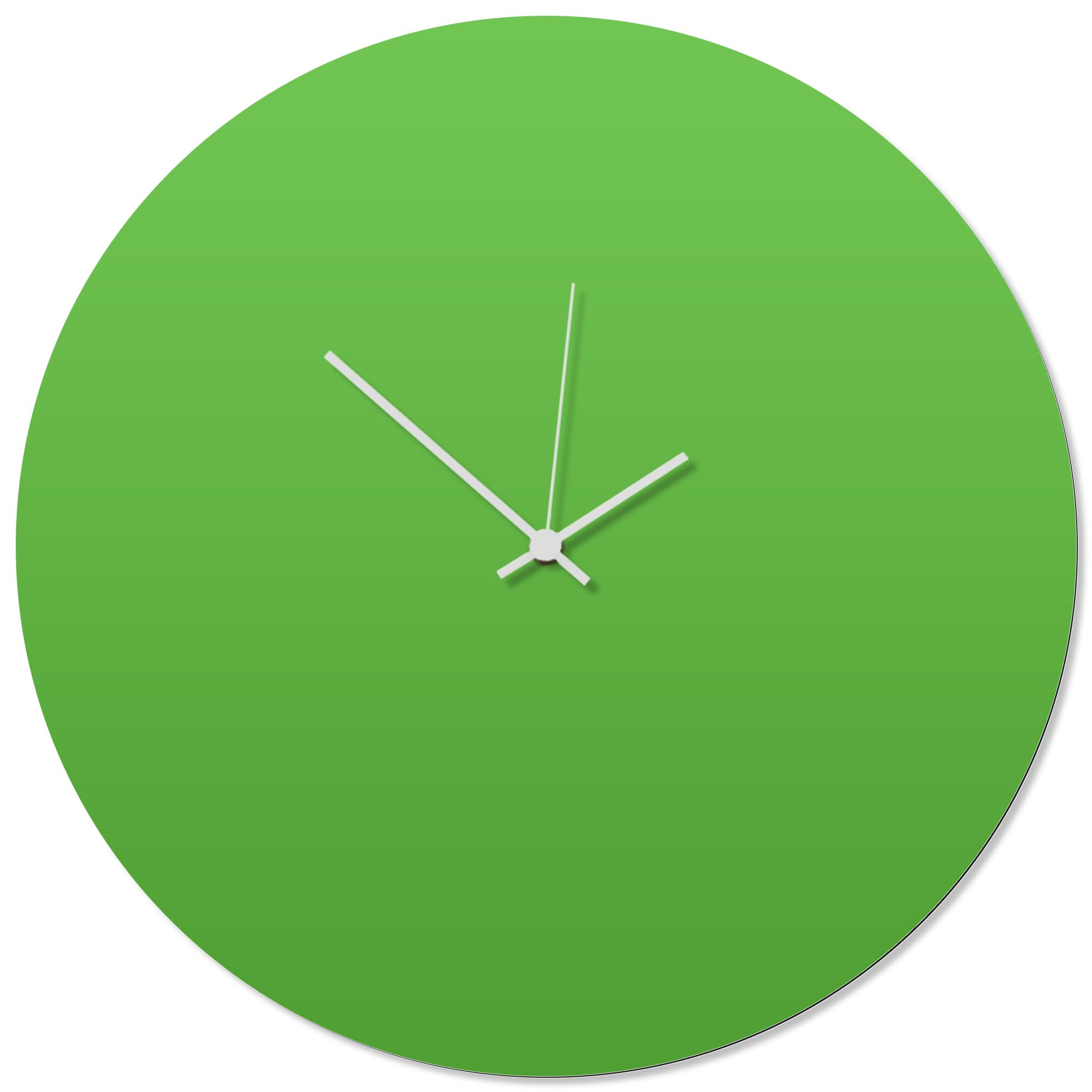 Greenout White Circle Clock Large 23x23in. Aluminum Polymetal