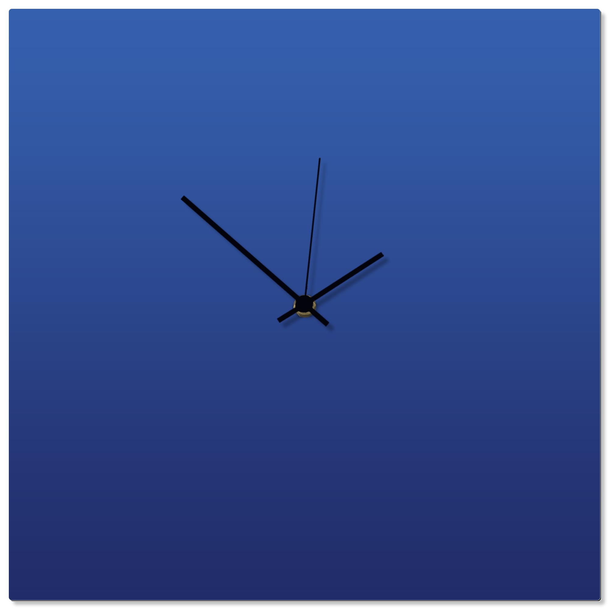 Blueout Black Square Clock 16x16in. Aluminum Polymetal