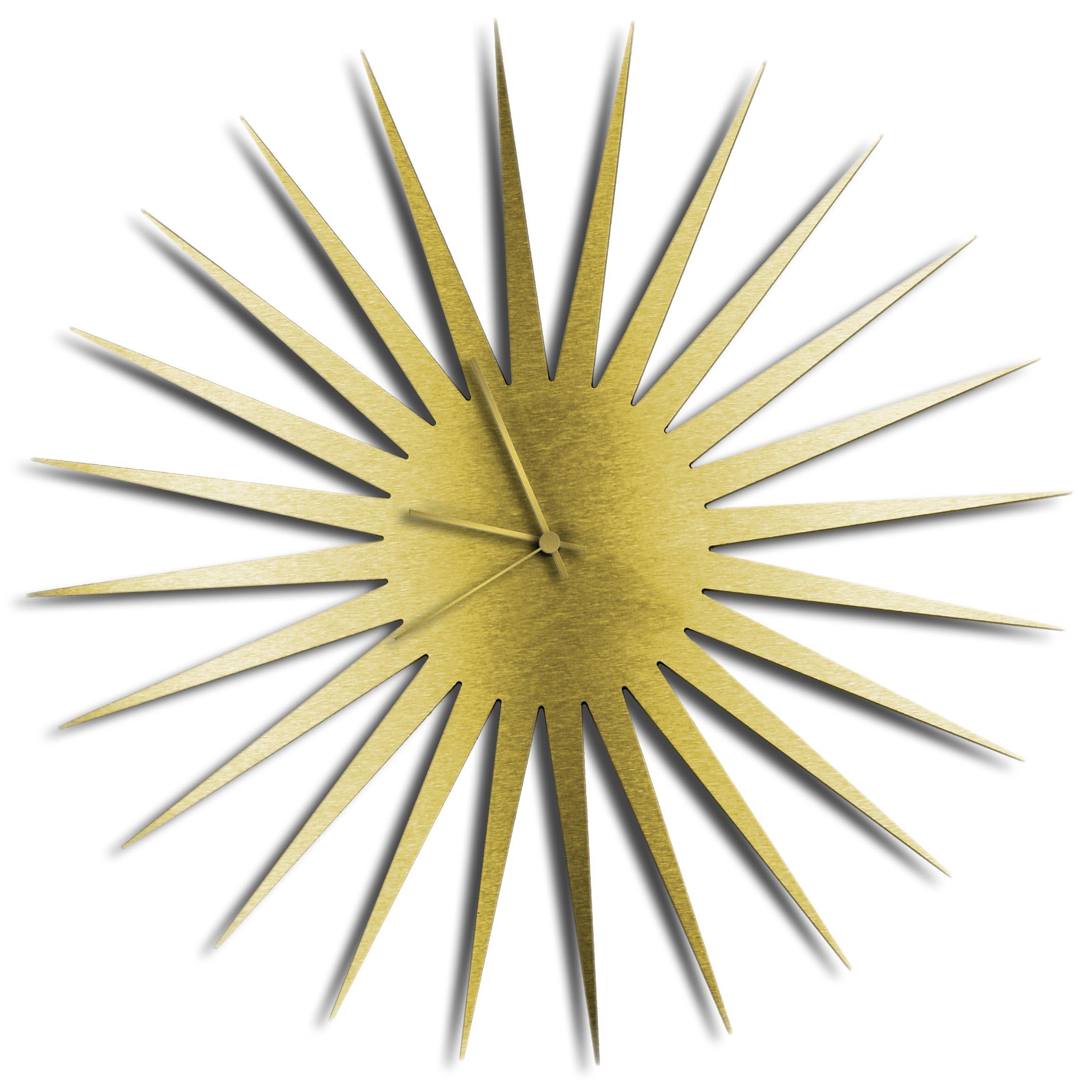 Adam Schwoeppe 'MCM Starburst Clock Gold Gold' Midcentury Modern Style Wall Clock