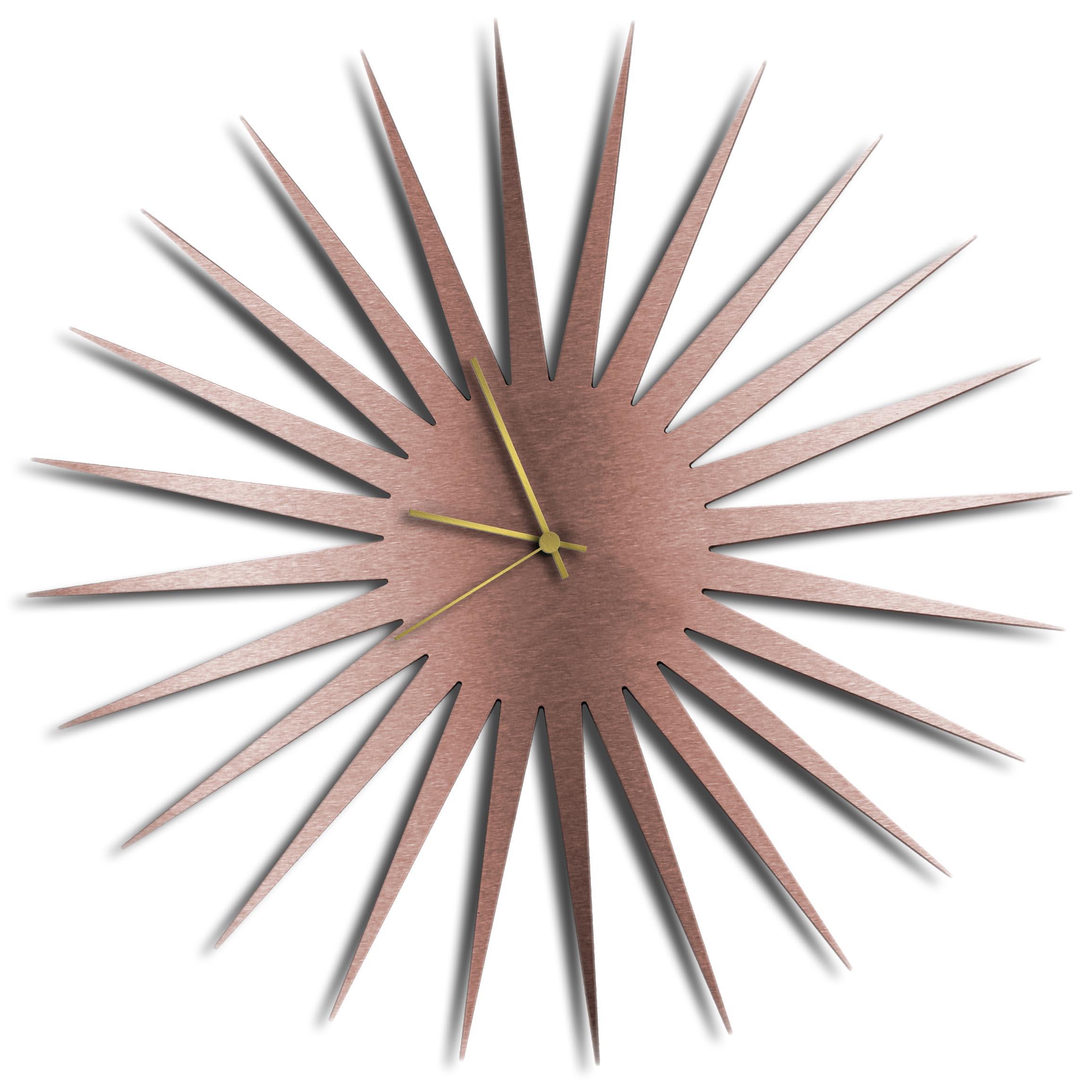 Adam Schwoeppe 'MCM Starburst Clock Copper Gold' Midcentury Modern Style Wall Clock