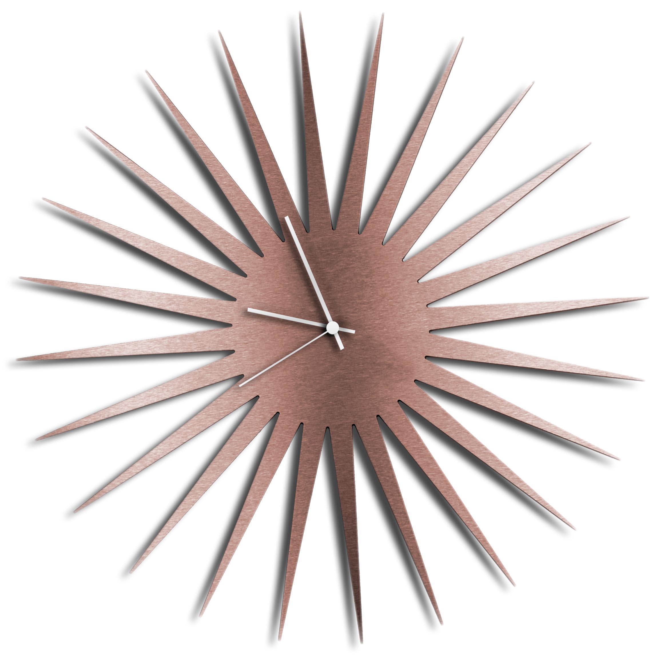 Mcm Starburst Clock Copper White