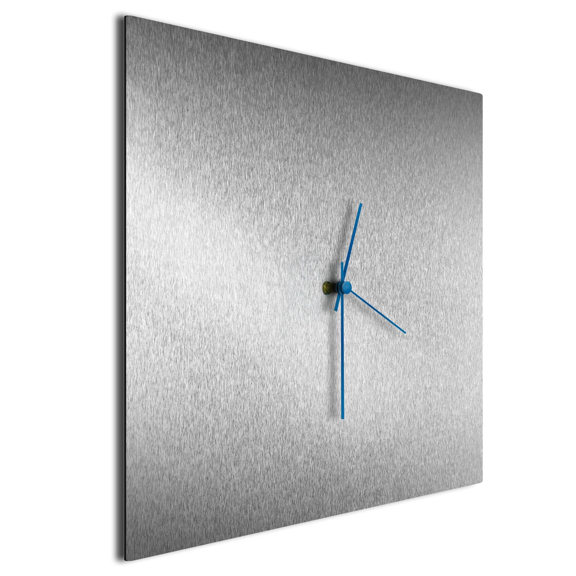 Silversmith Square Clock Blue - Image 2