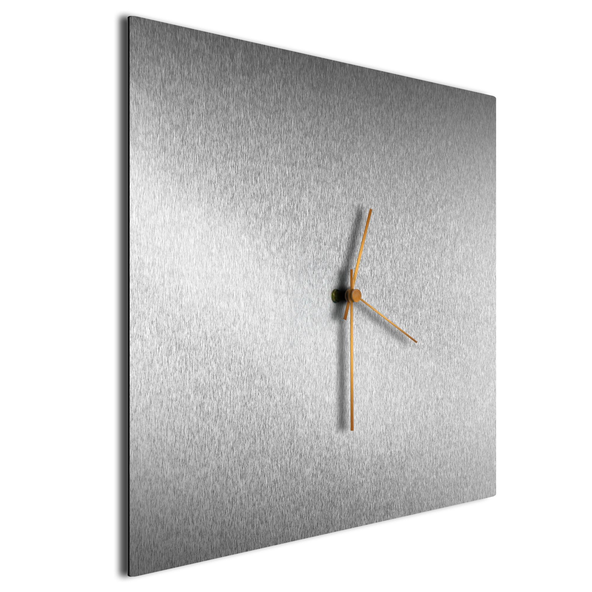 Silversmith Square Clock Large Bronze - Image 2