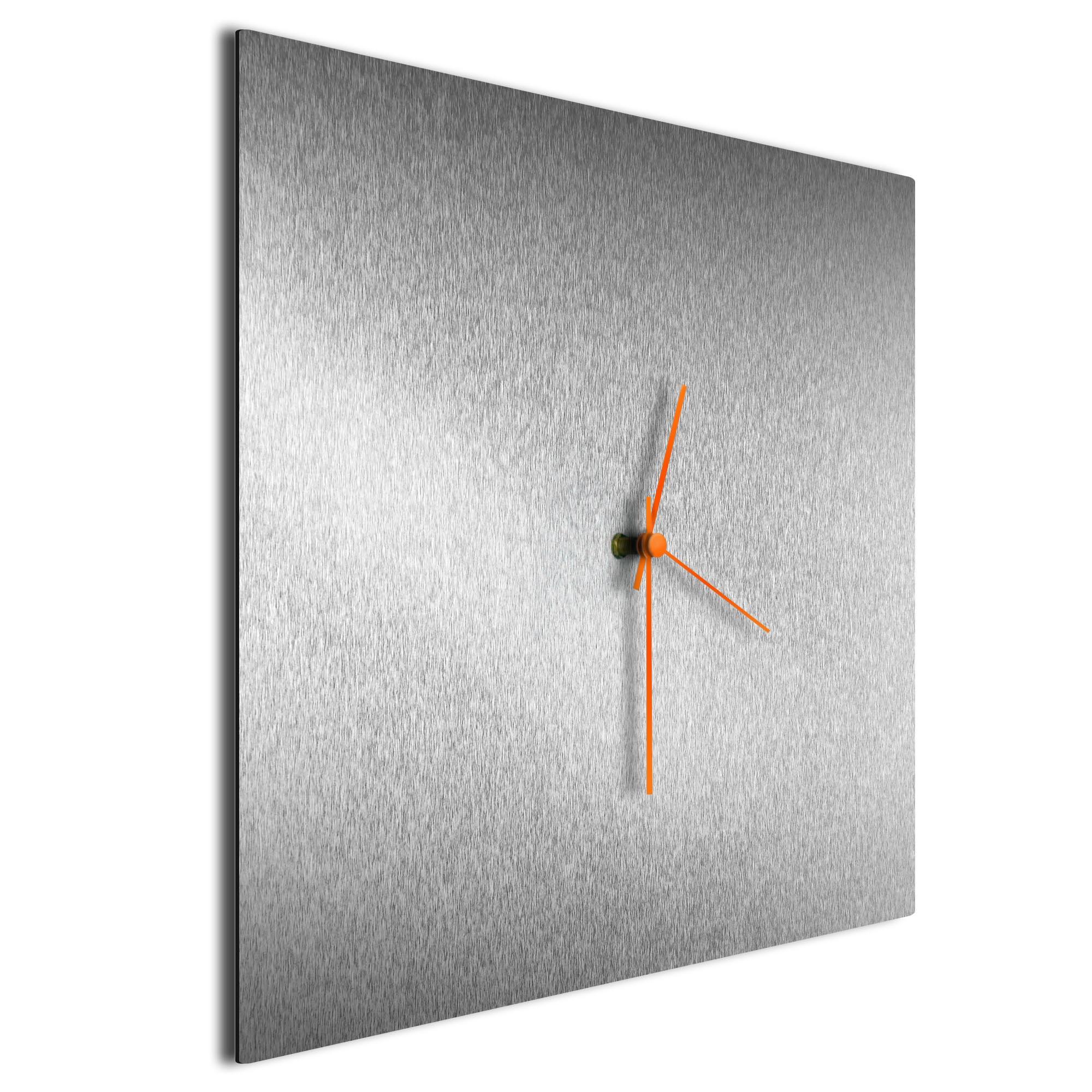 Silversmith Square Clock Large Orange - Image 2