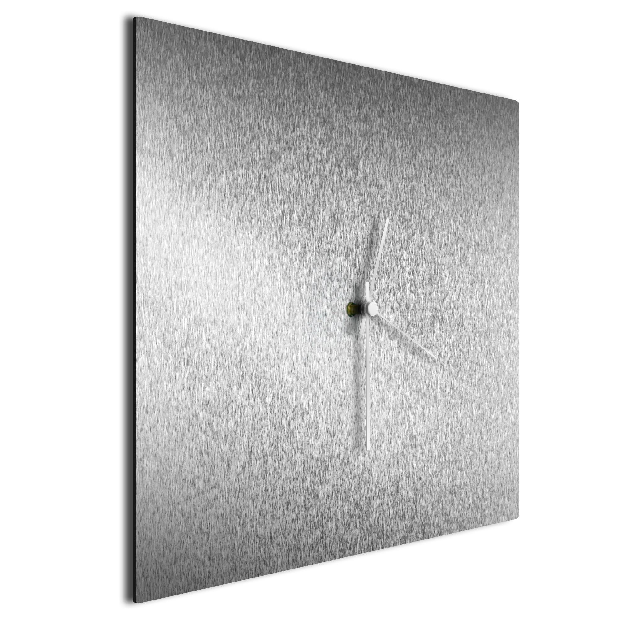Silversmith Square Clock Large White - Image 2