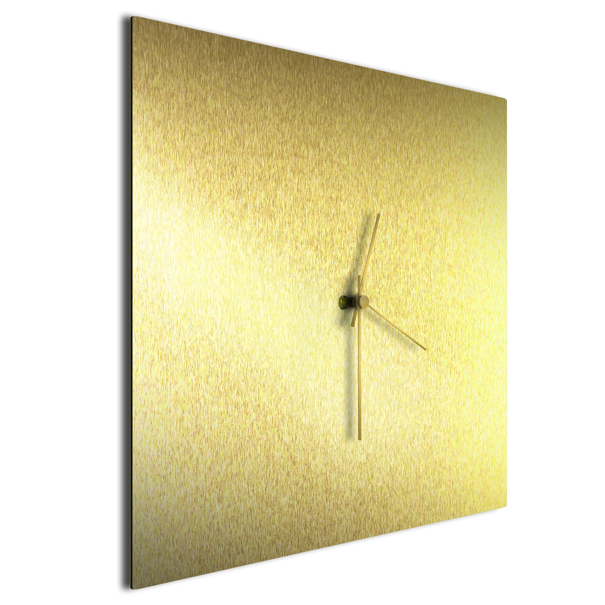 Goldsmith Square Clock Large Gold - Image 2