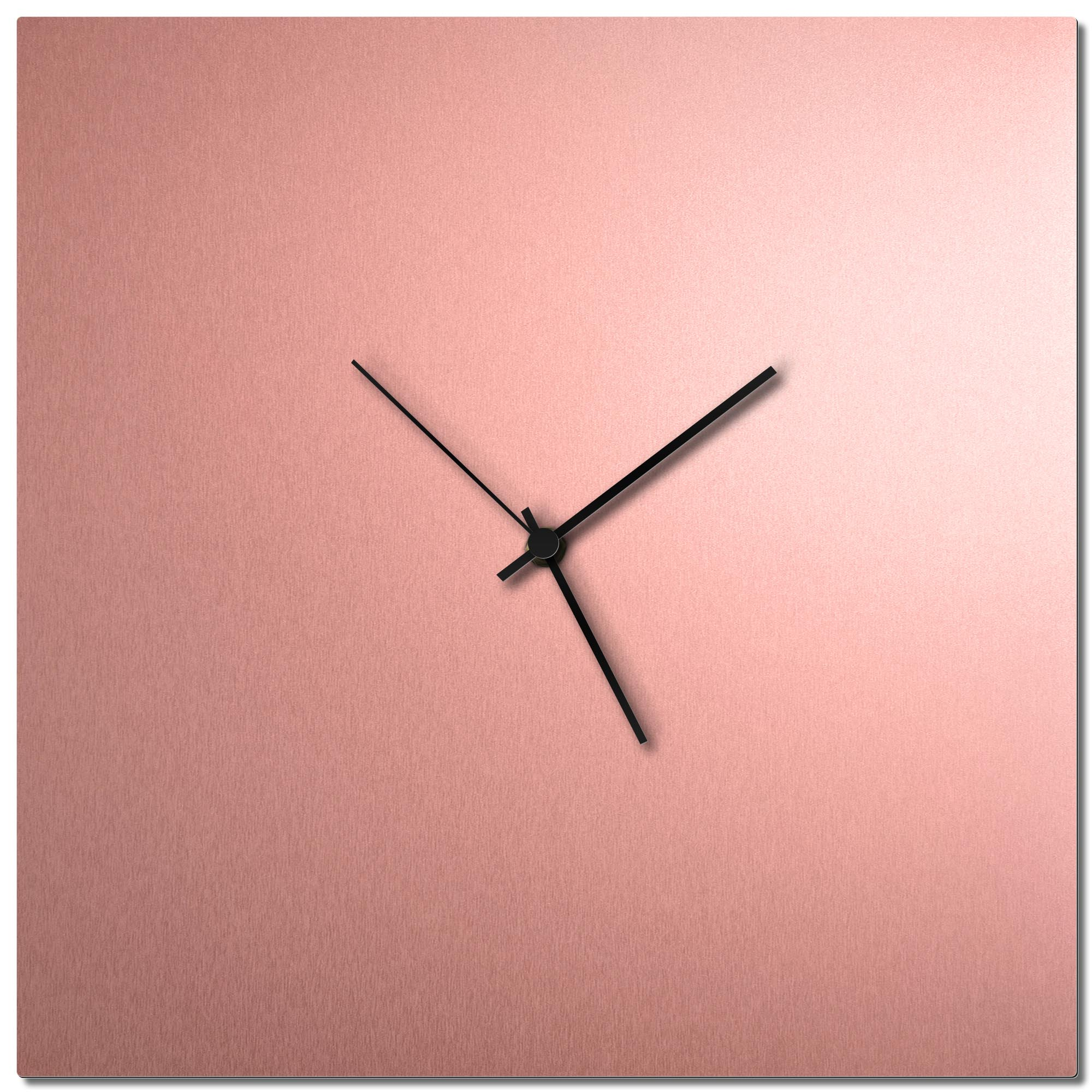 Adam Schwoeppe 'Coppersmith Square Clock Large Black' Midcentury Modern Style Wall Clock