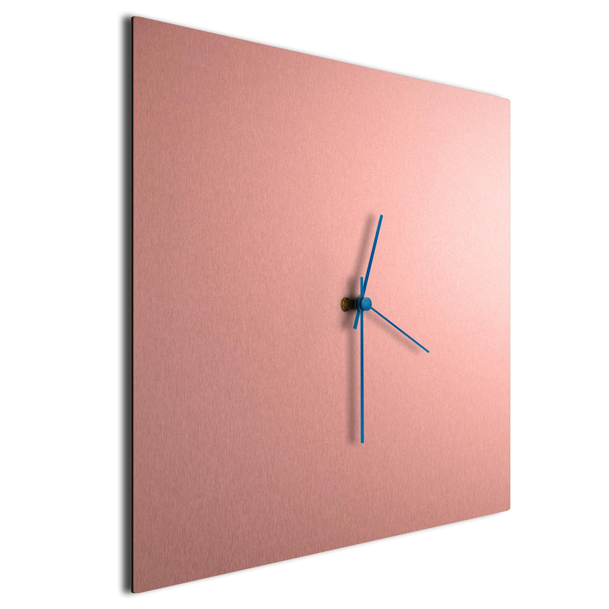 Coppersmith Square Clock Large Blue - Image 2