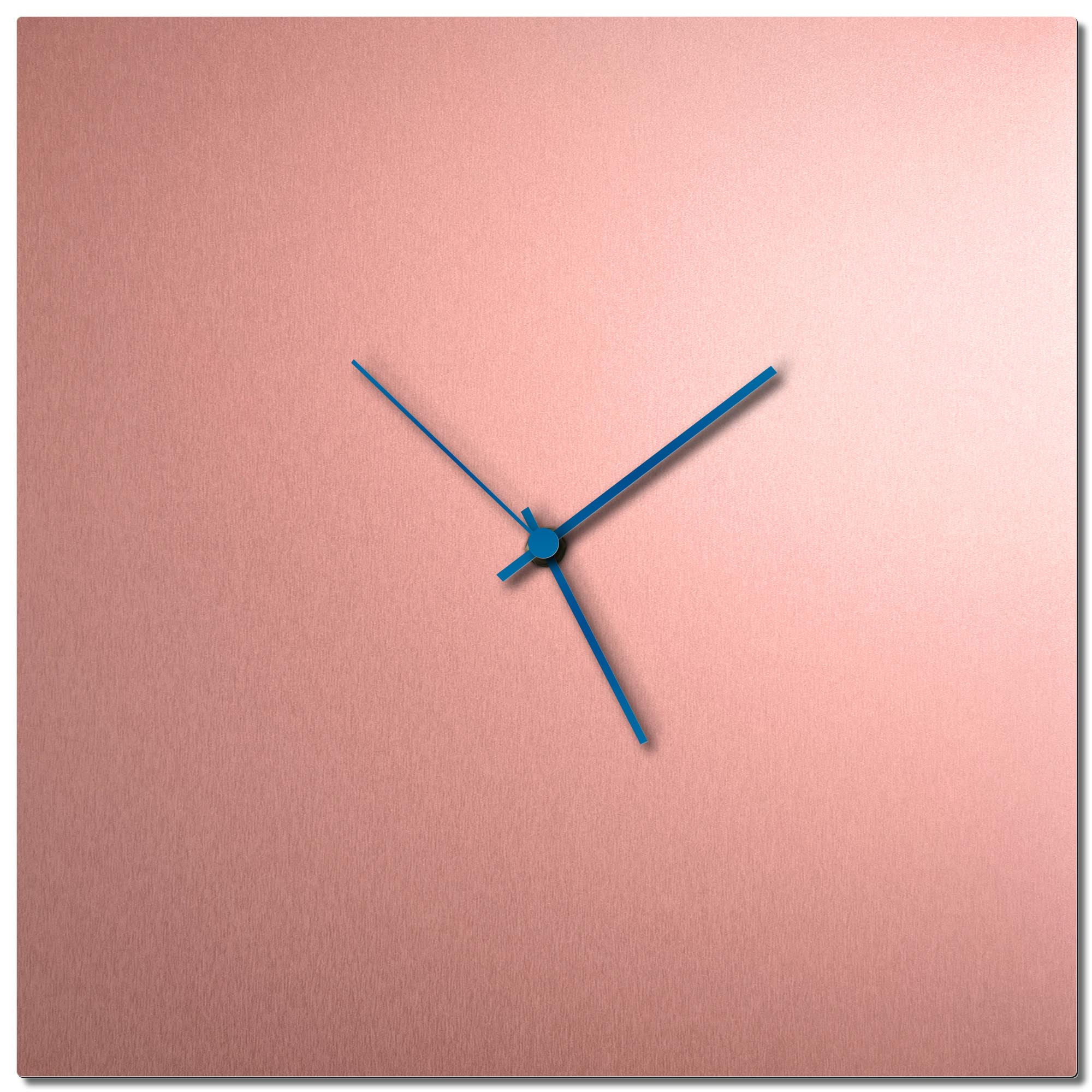 Adam Schwoeppe 'Coppersmith Square Clock Large Blue' Midcentury Modern Style Wall Clock