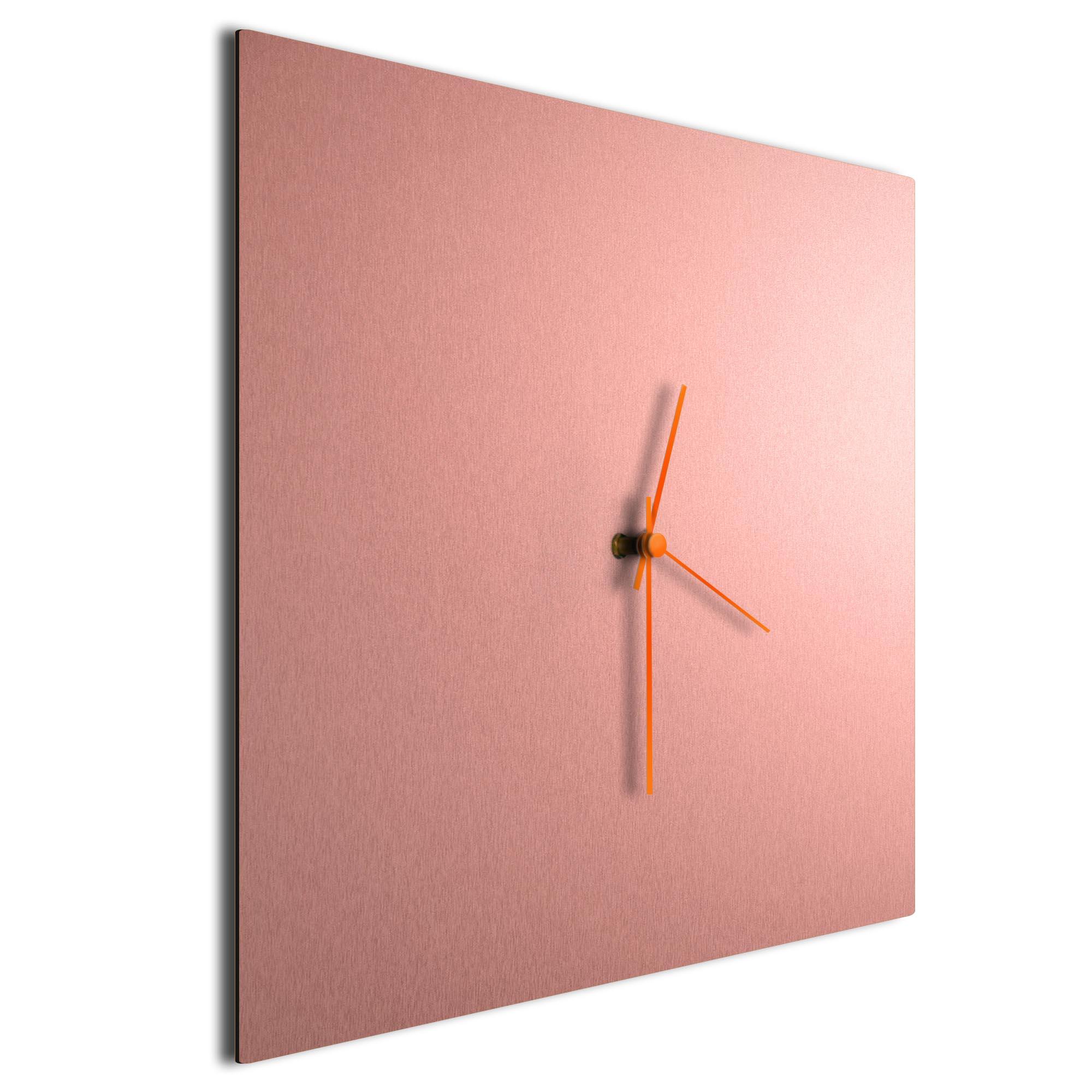 Coppersmith Square Clock Large Orange - Image 2