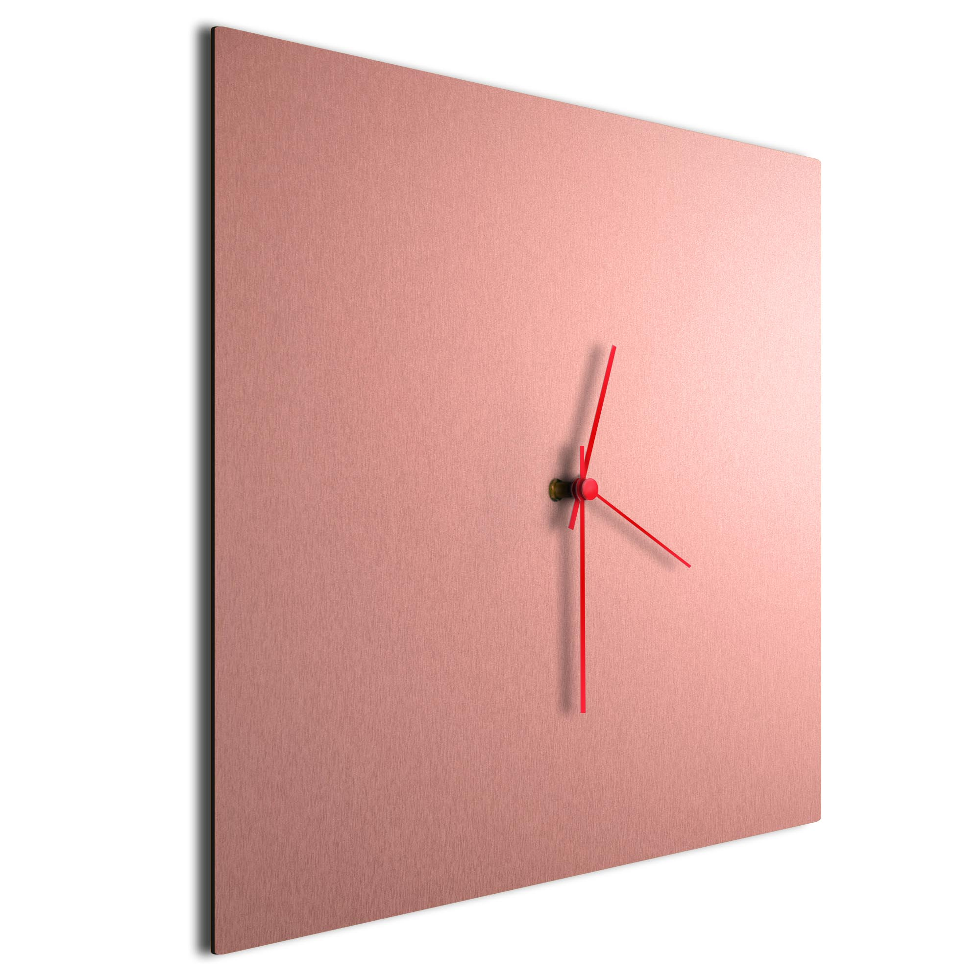 Coppersmith Square Clock Large Red - Image 2