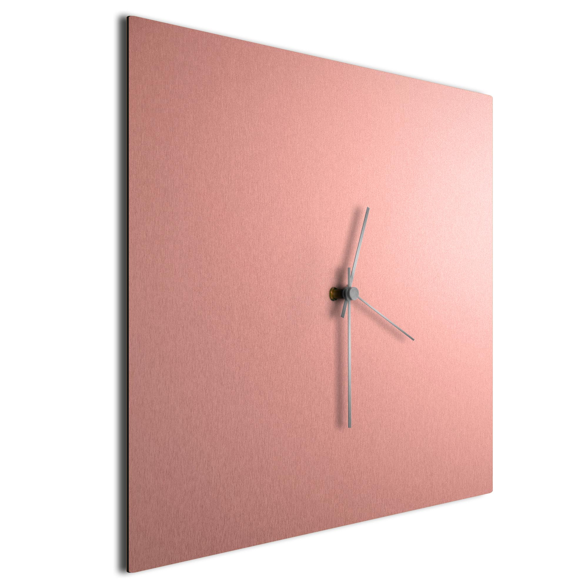 Coppersmith Square Clock Large Silver - Image 2