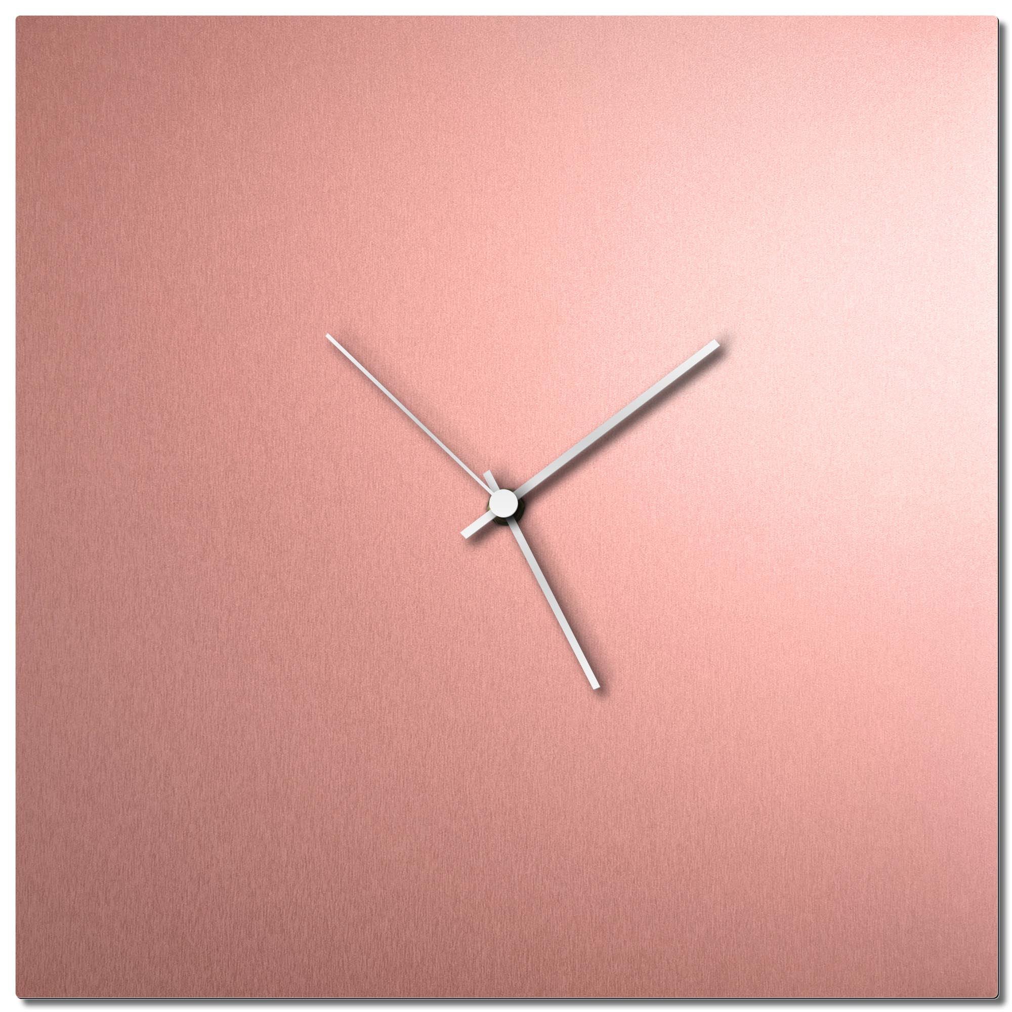 Adam Schwoeppe 'Coppersmith Square Clock White' Midcentury Modern Style Wall Clock
