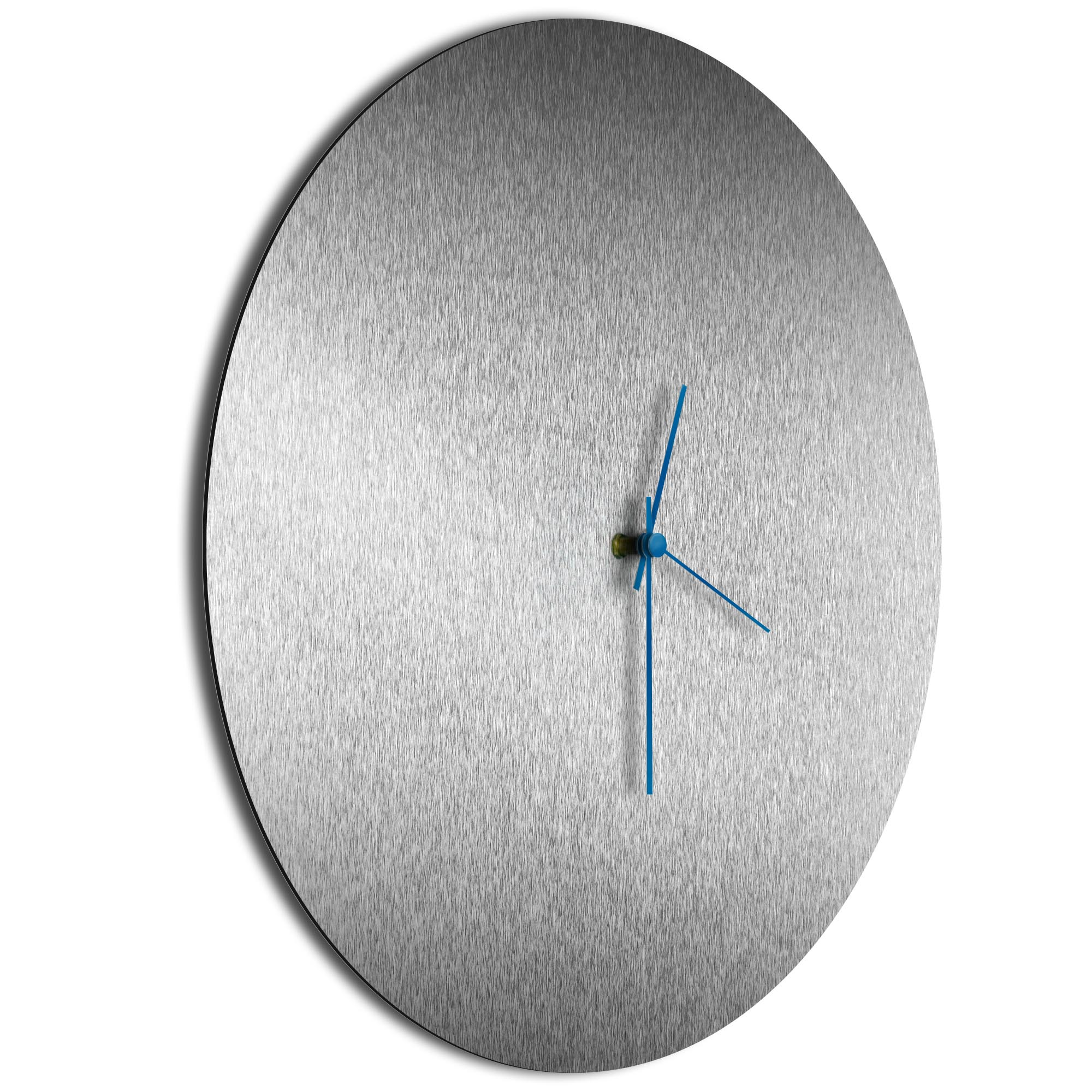 Silversmith Circle Clock Large Blue - Image 2
