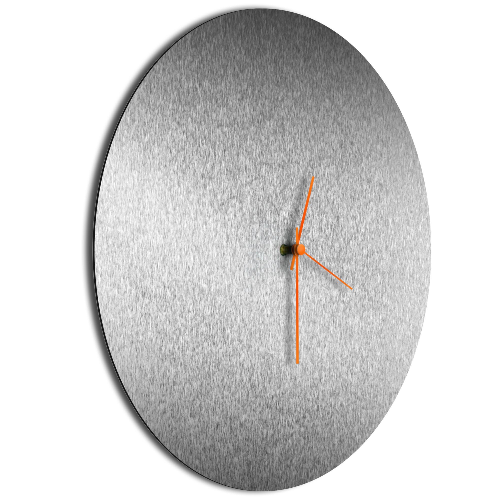 Silversmith Circle Clock Large Orange - Image 2