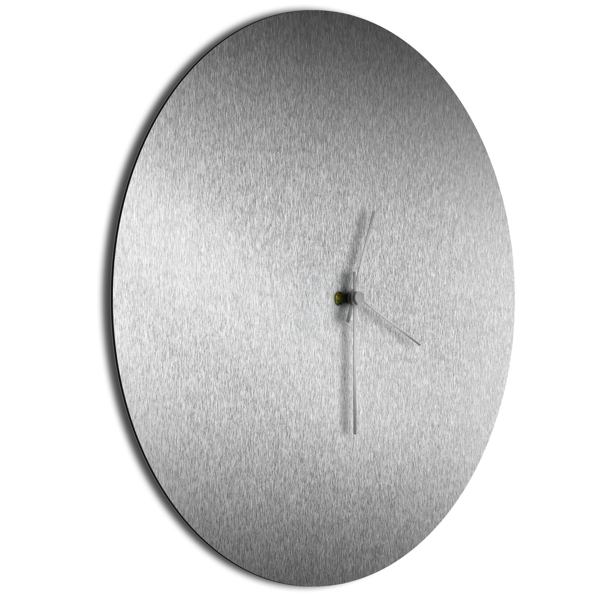 Silversmith Circle Clock Large Silver - Image 2
