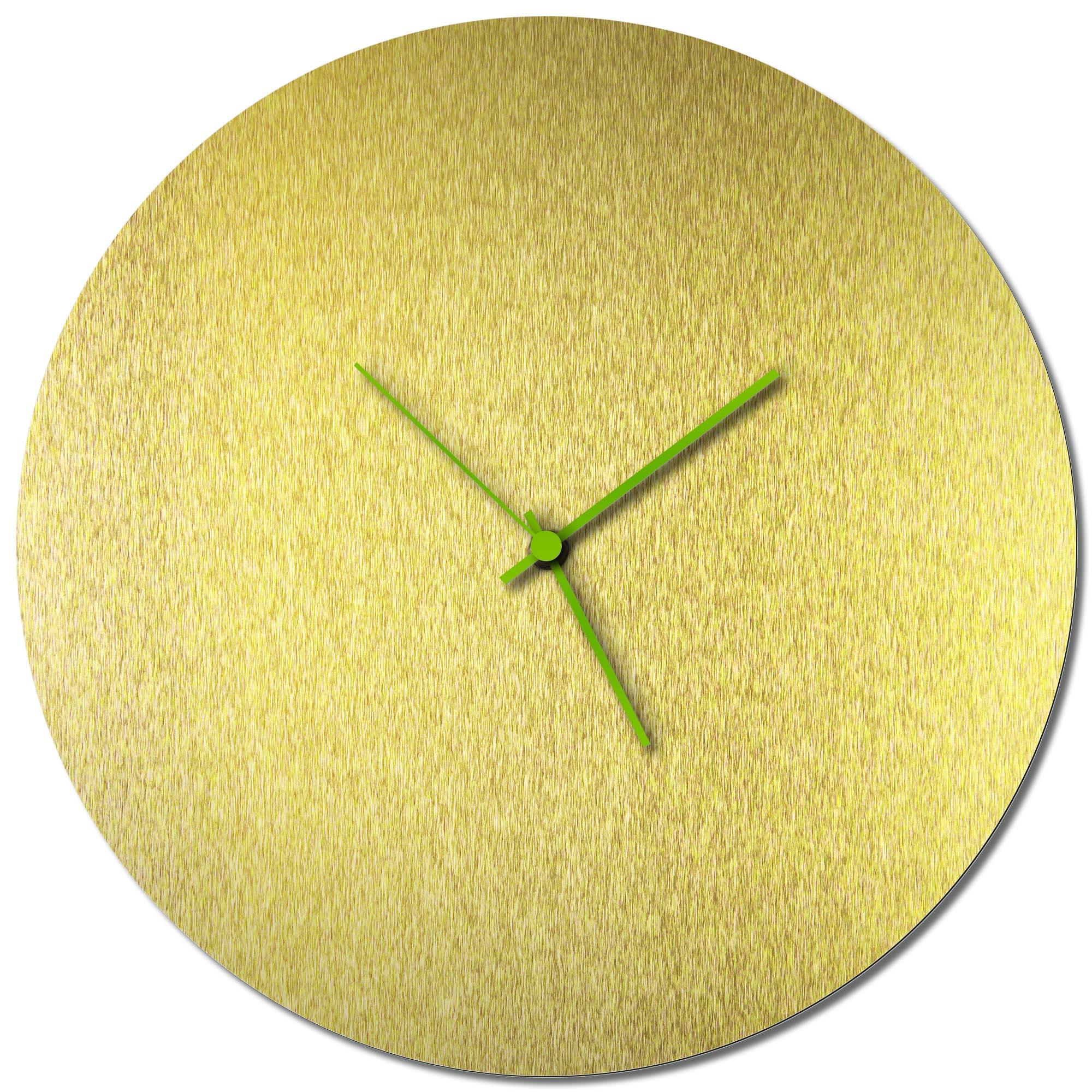 Adam Schwoeppe 'Goldsmith Circle Clock Green' Midcentury Modern Style Wall Clock