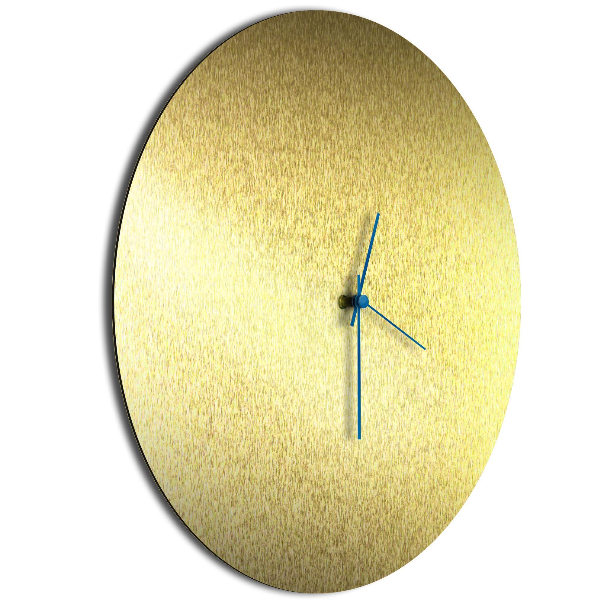 Goldsmith Circle Clock Large Blue - Image 2