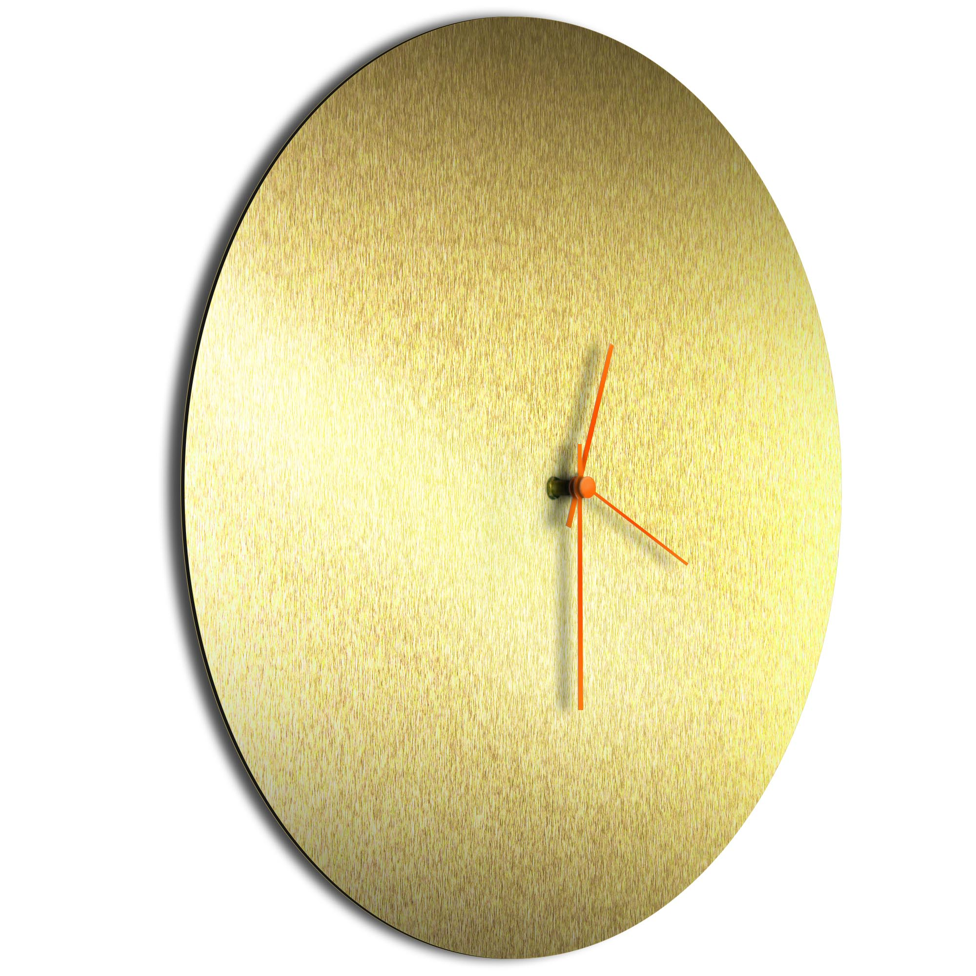 Goldsmith Circle Clock Large Orange - Image 2