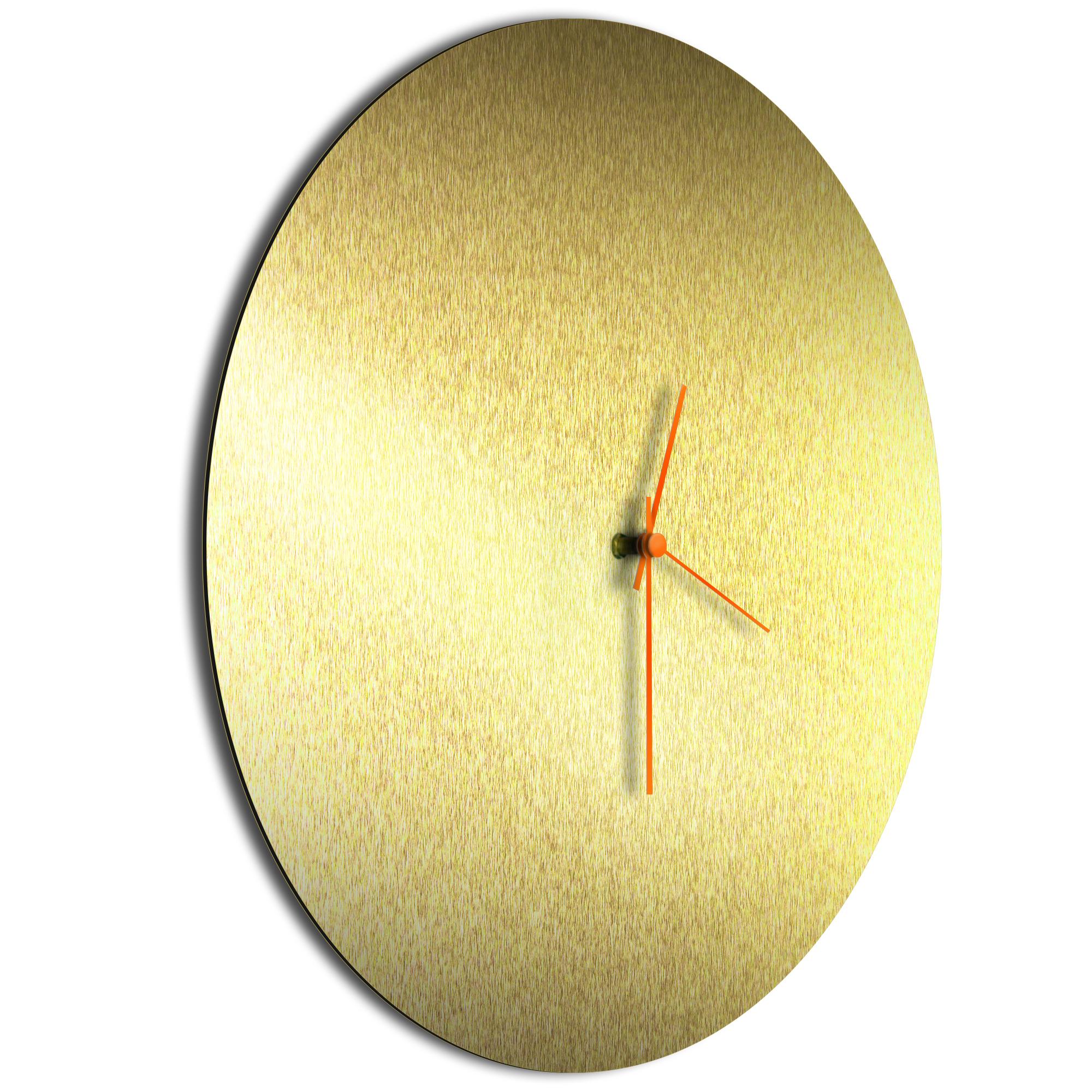 Goldsmith Circle Clock Orange - Image 2