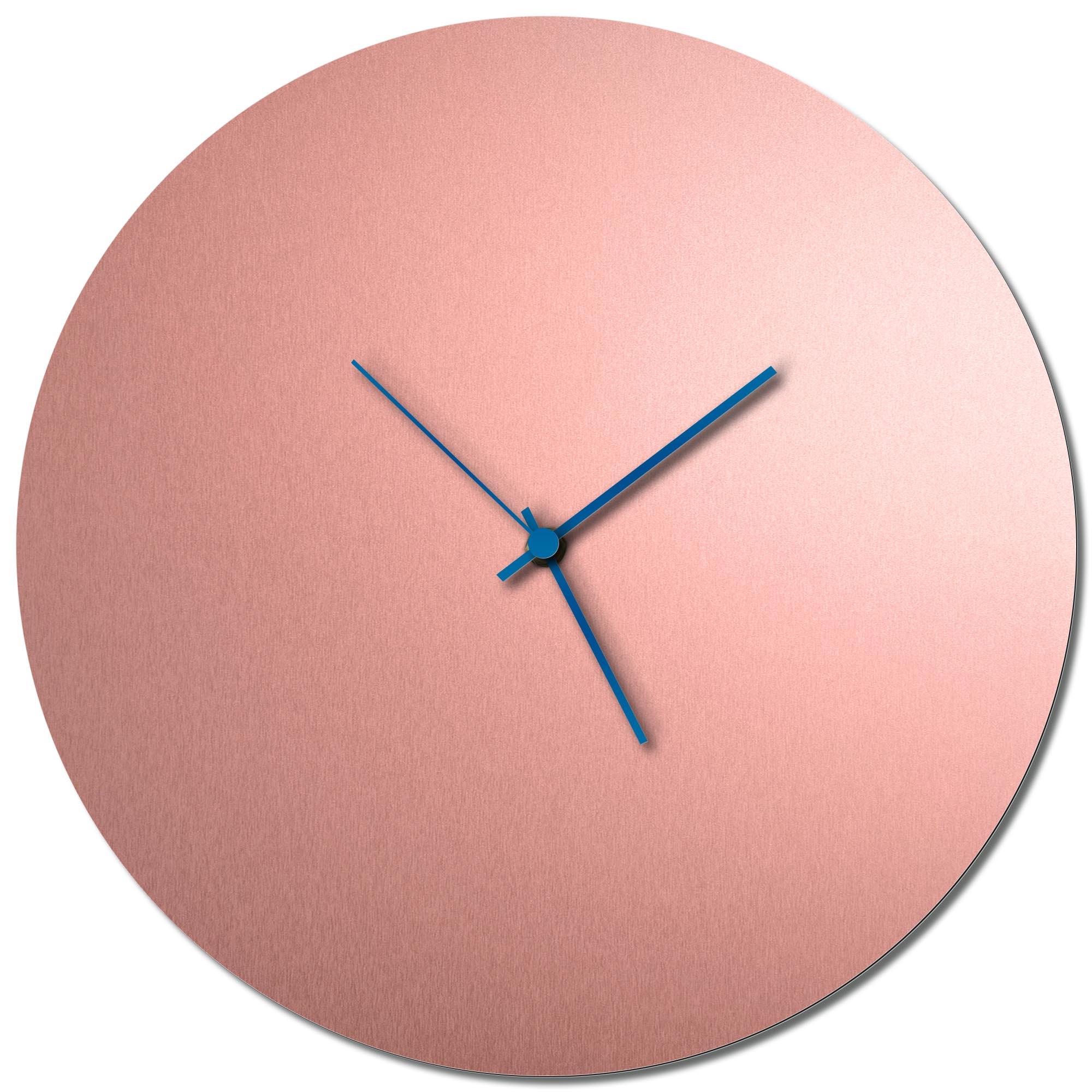 Adam Schwoeppe 'Coppersmith Circle Clock Blue' Midcentury Modern Style Wall Clock