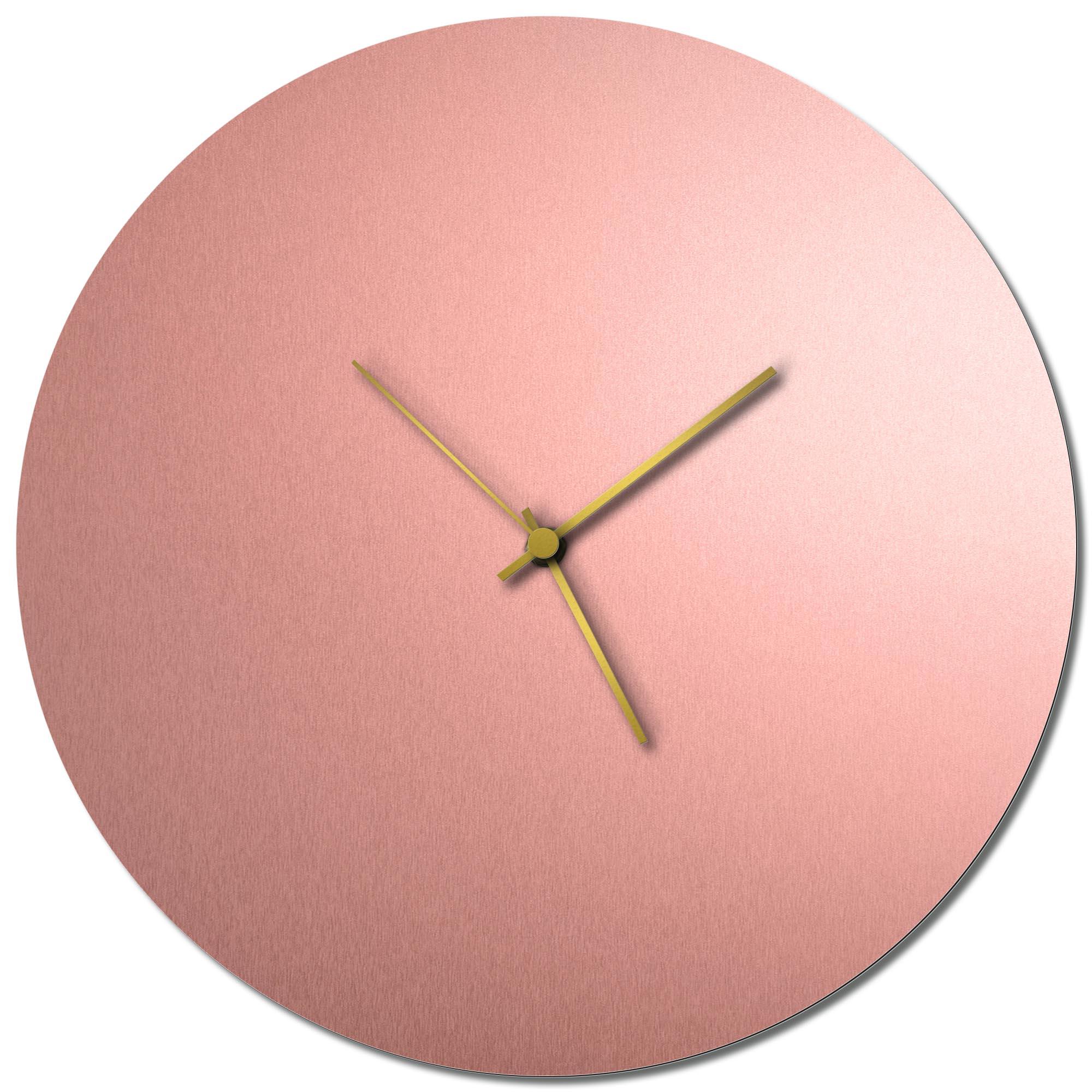 Adam Schwoeppe 'Coppersmith Circle Clock Large Gold' Midcentury Modern Style Wall Clock