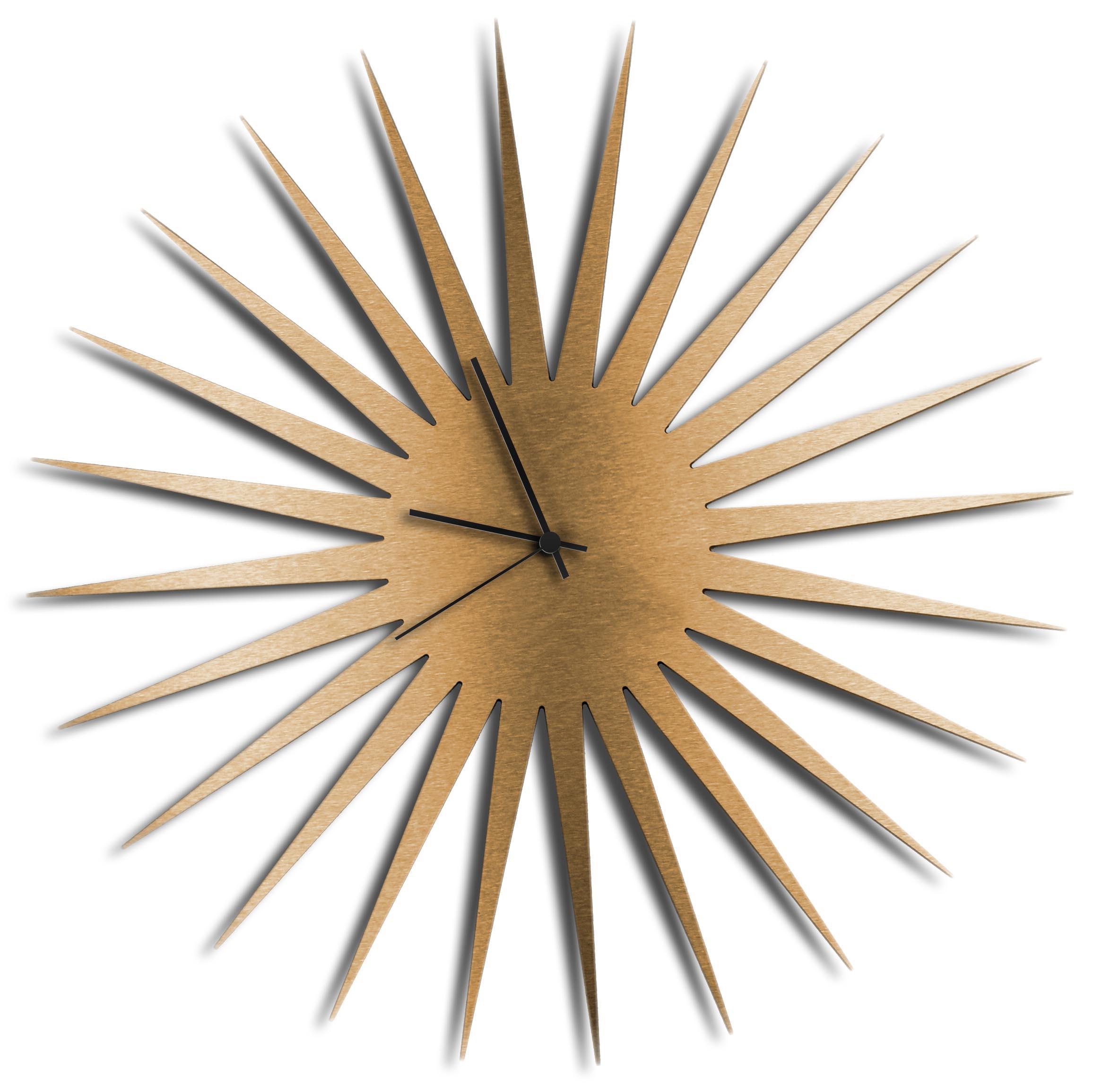 Adam Schwoeppe 'MCM Starburst Clock Bronze Black' Midcentury Modern Style Wall Clock